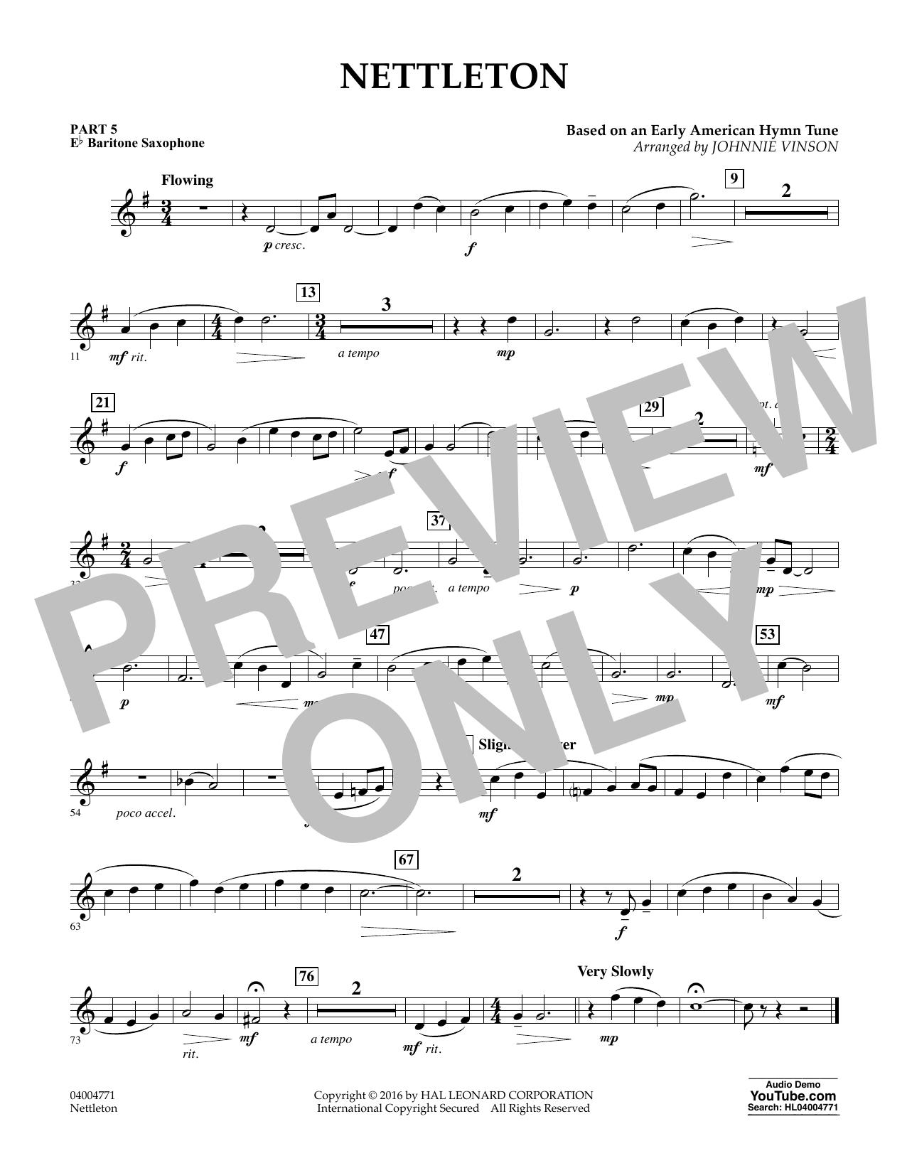 Nettleton - Pt.5 - Eb Baritone Saxophone