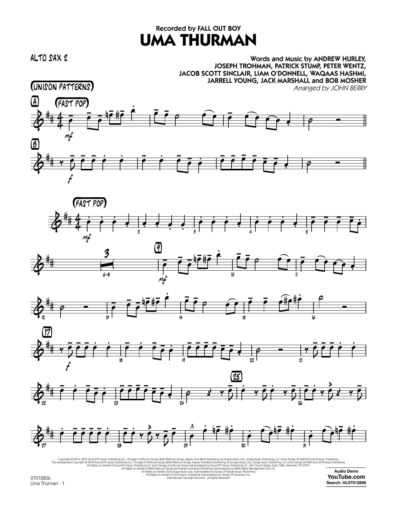 Fall Out Boy - Uma Thurman - Alto Sax 2