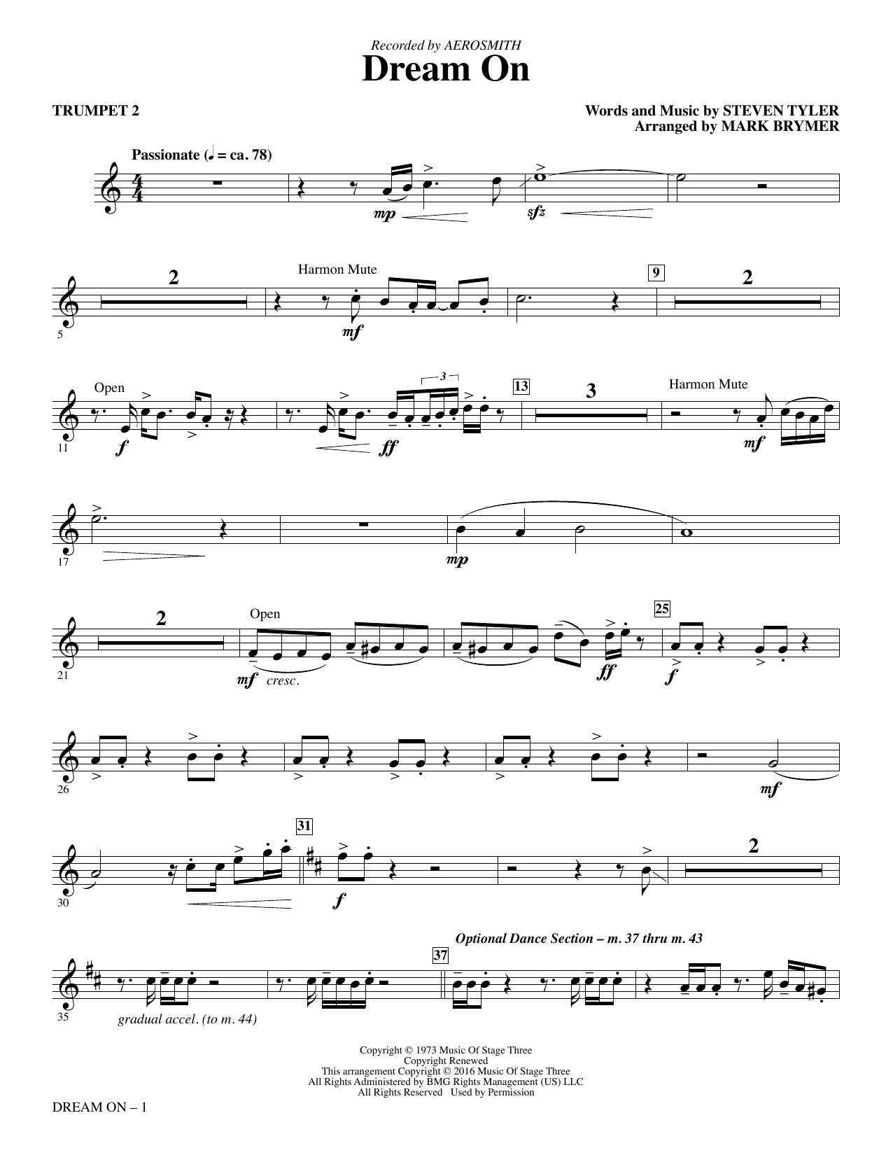 Dream On - Trumpet 2