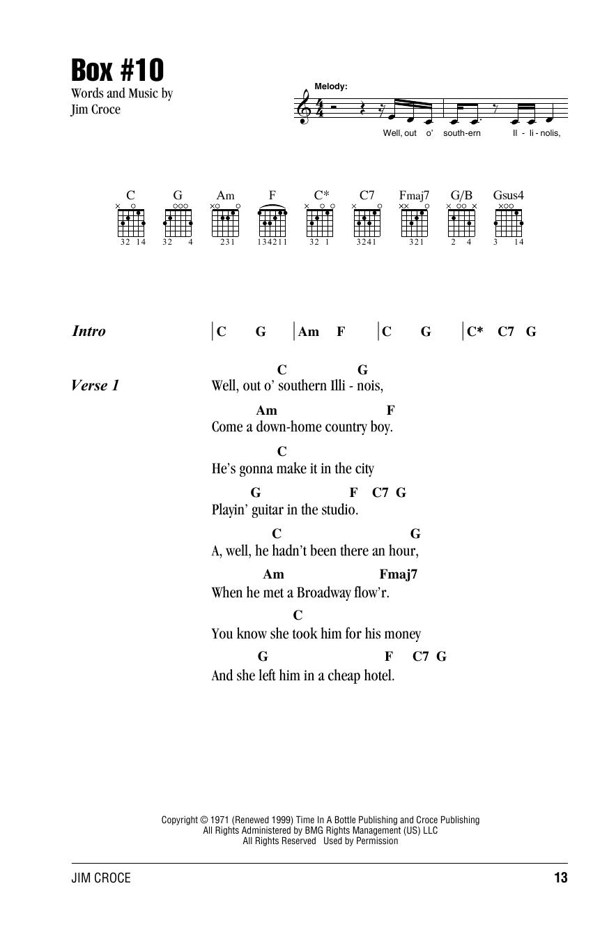 Jim Croce - Box #10