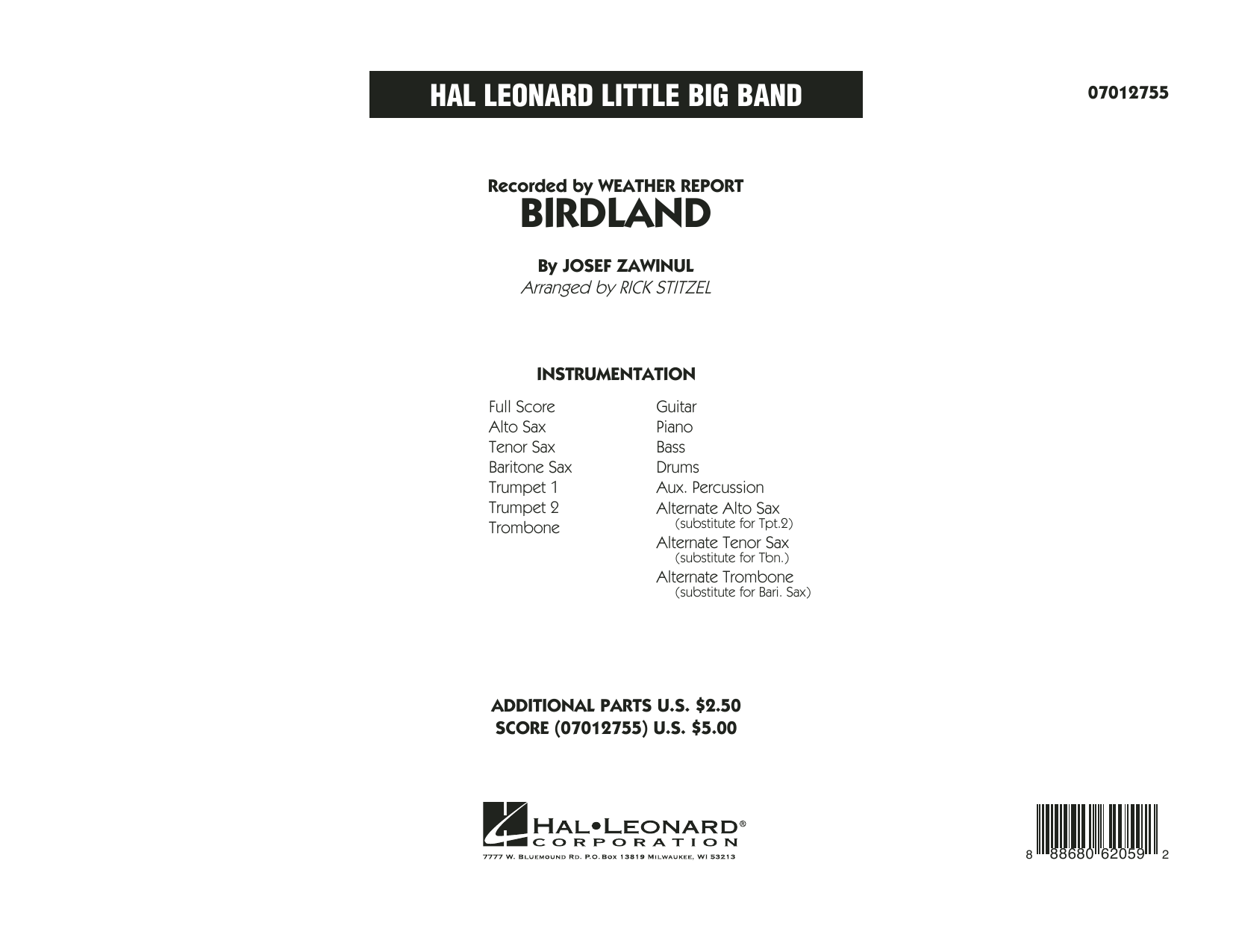 Manhattan Transfer - Birdland - Full Score