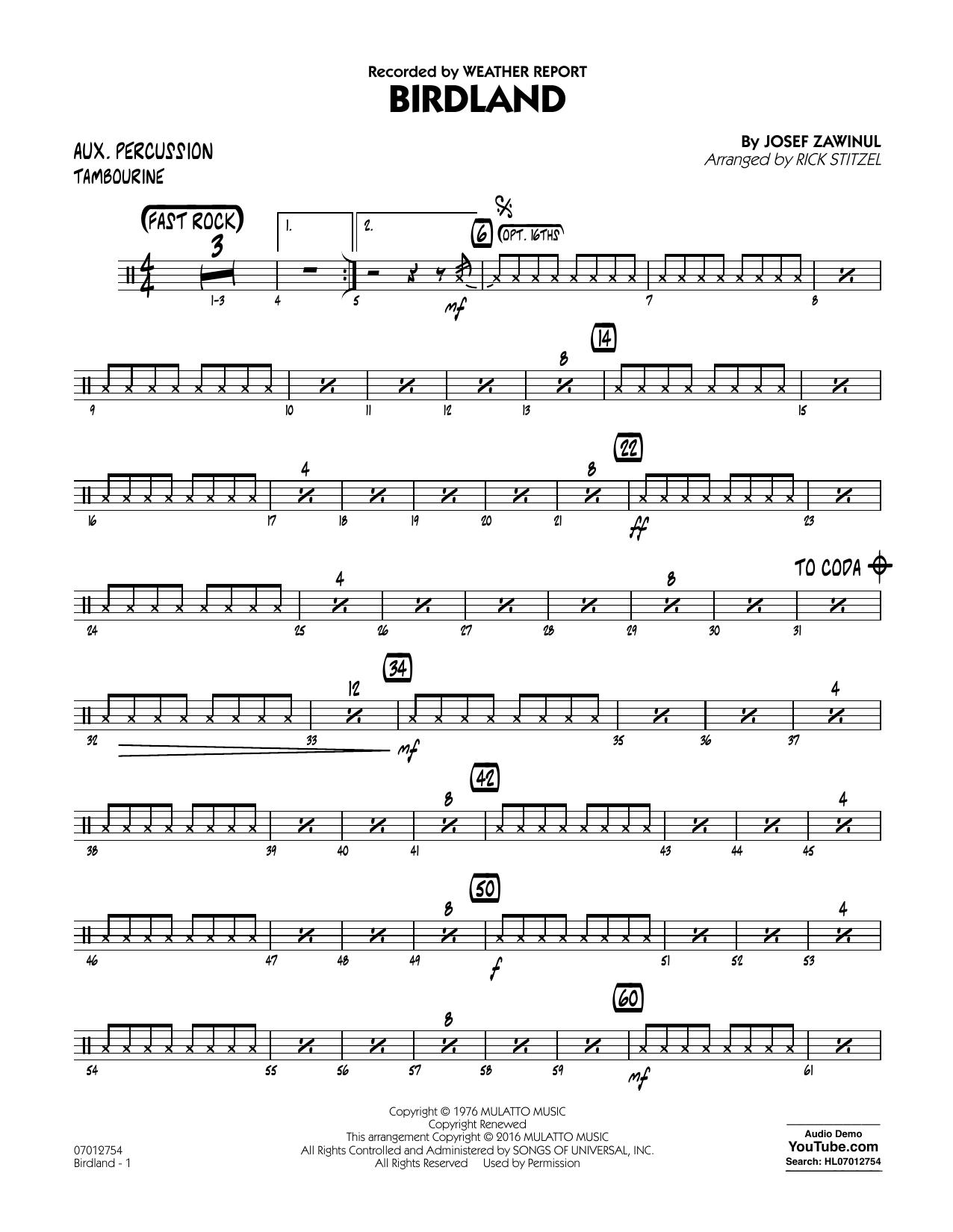 Manhattan Transfer - Birdland - Aux Percussion