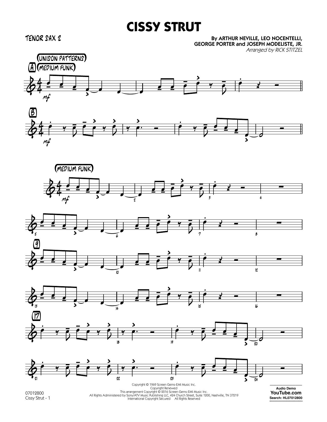 George Porter - Cissy Strut - Tenor Sax 2