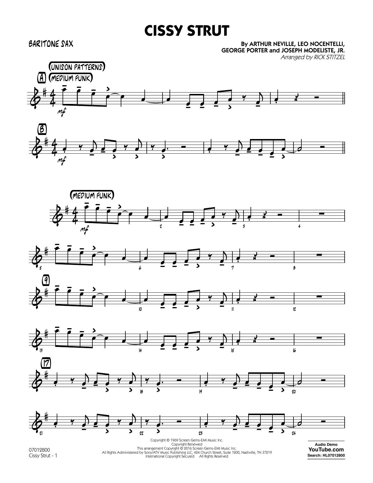 George Porter - Cissy Strut - Baritone Sax
