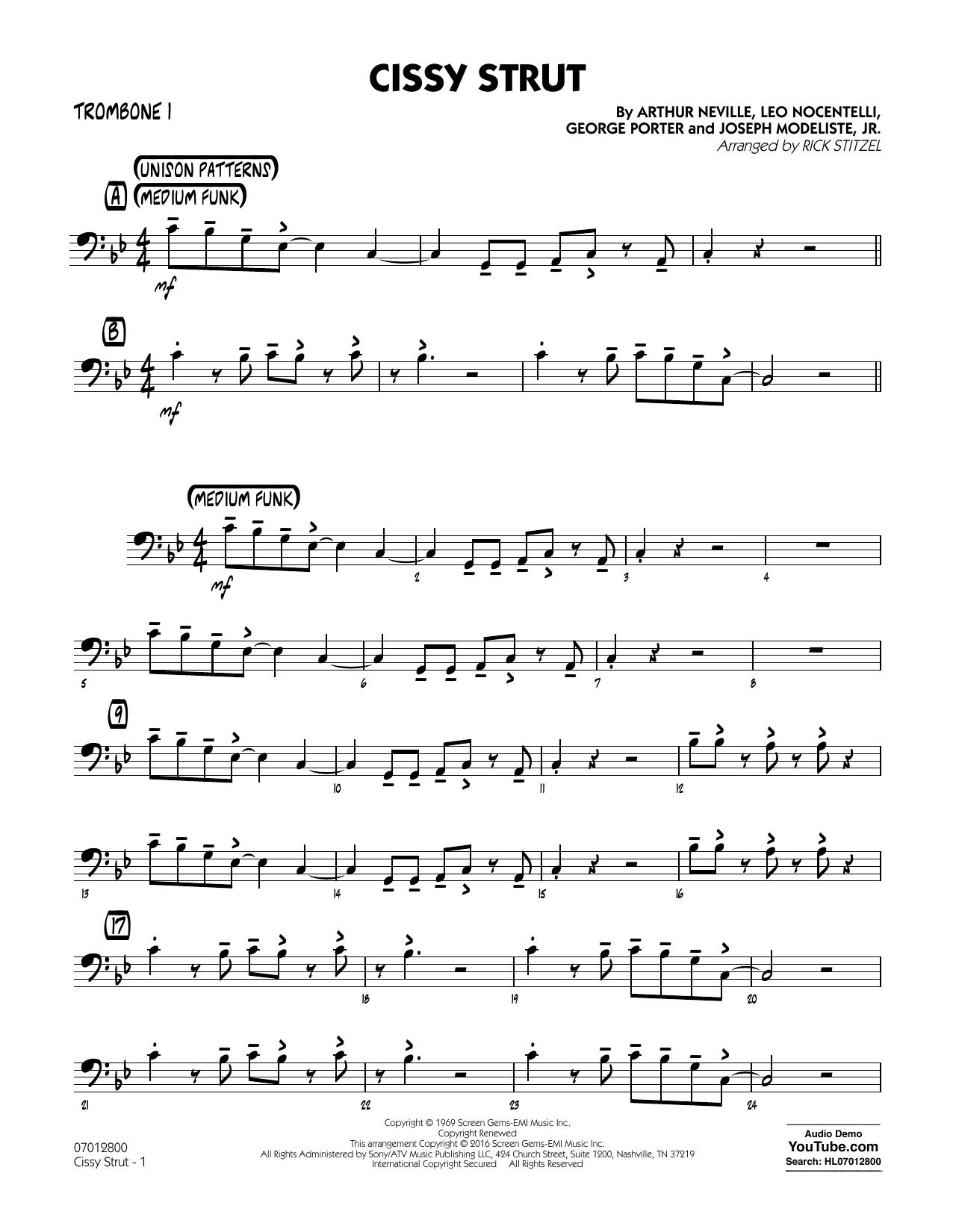 George Porter - Cissy Strut - Trombone 1