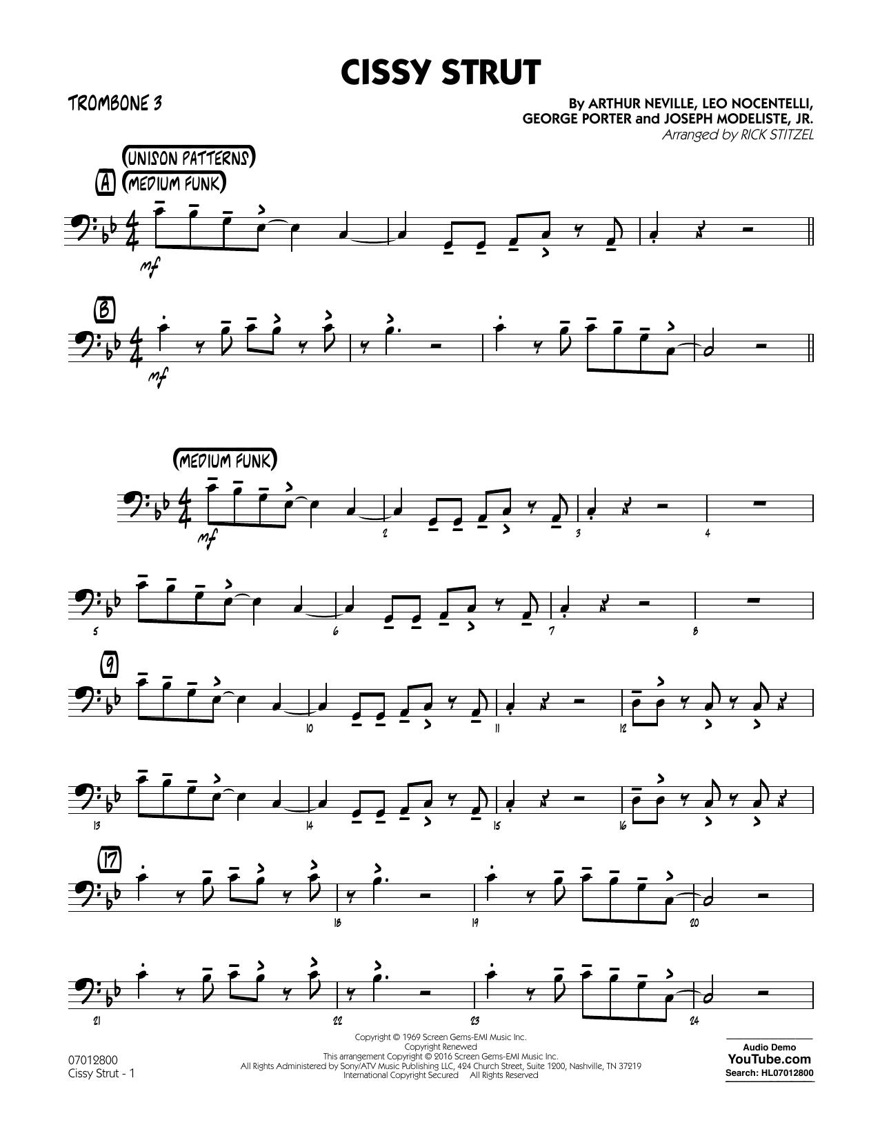 George Porter - Cissy Strut - Trombone 3