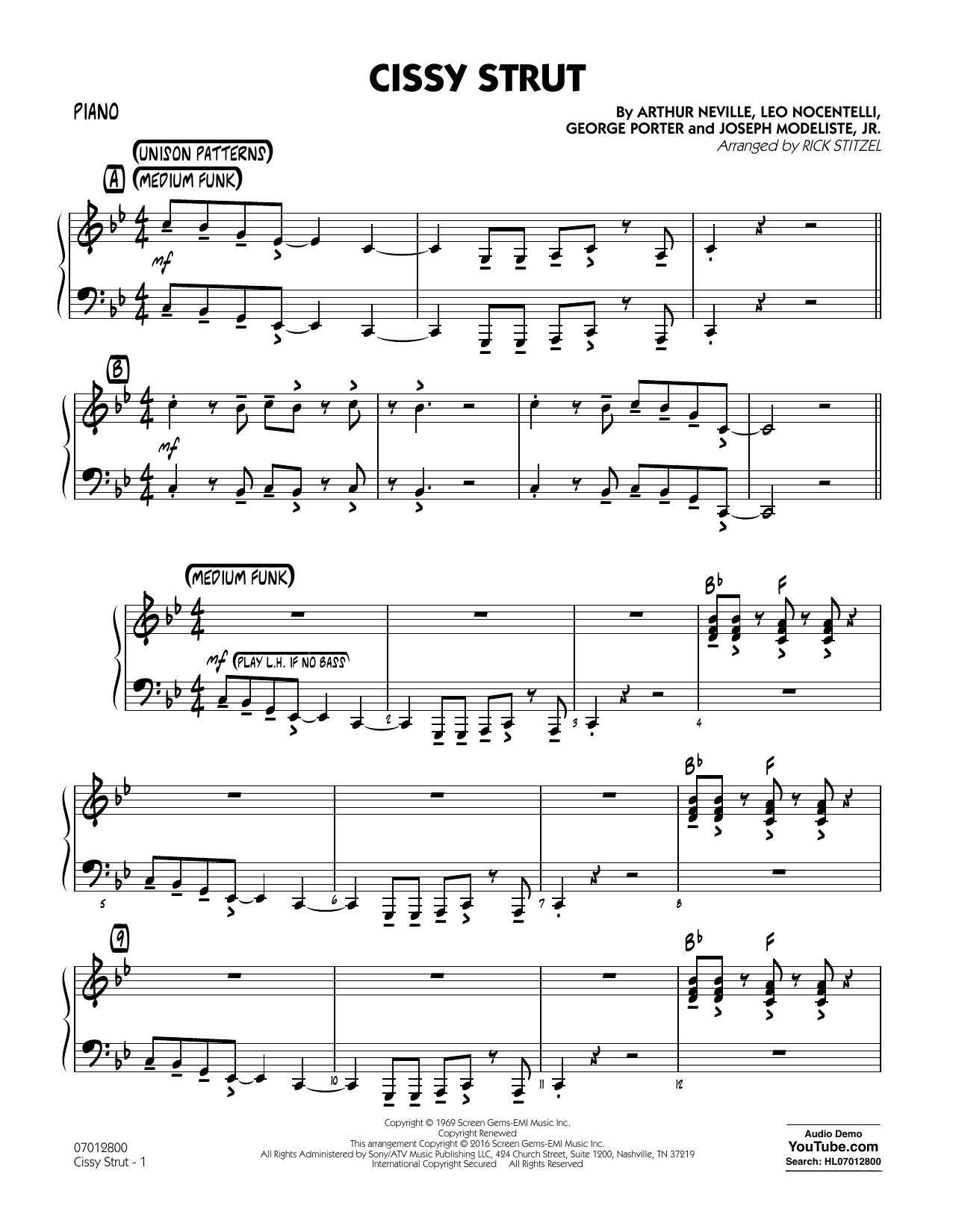 George Porter - Cissy Strut - Piano