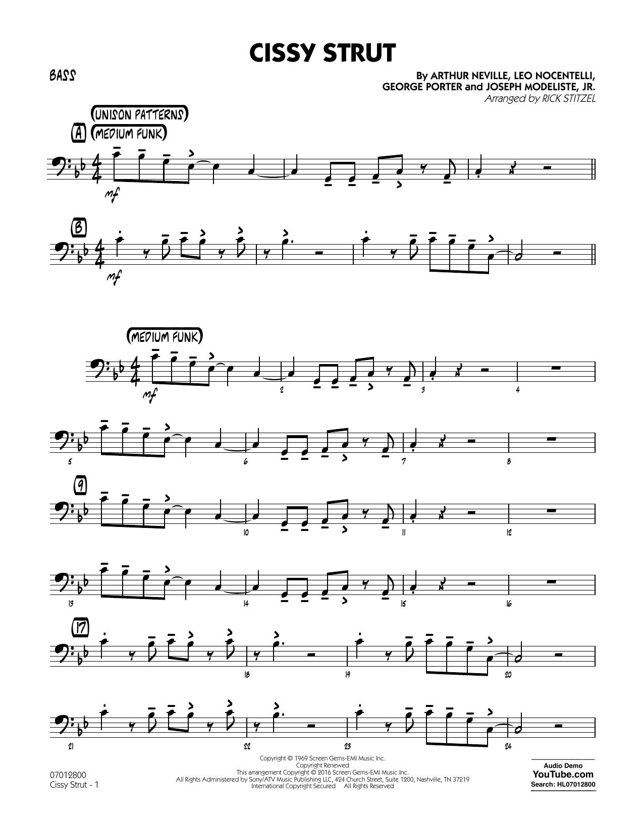George Porter - Cissy Strut - Bass