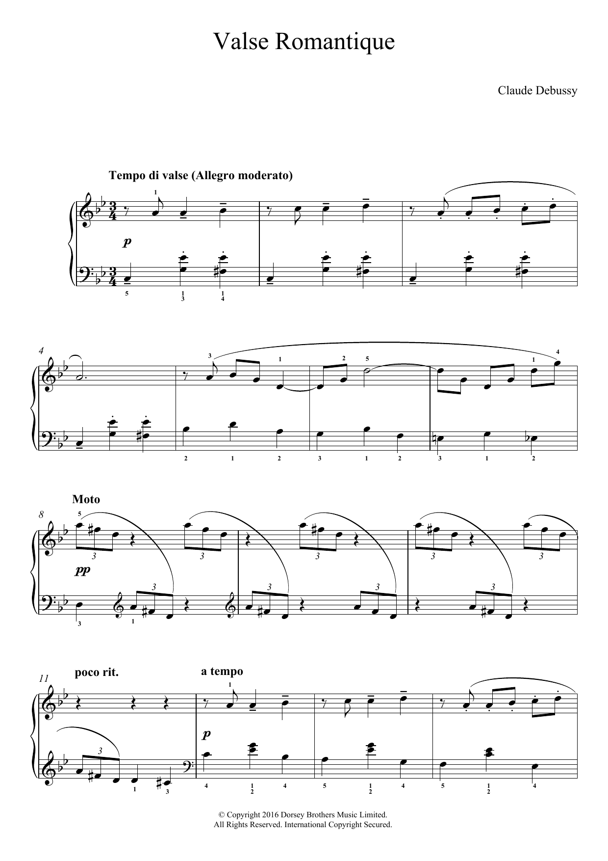 Claude Debussy - Valse Romantique