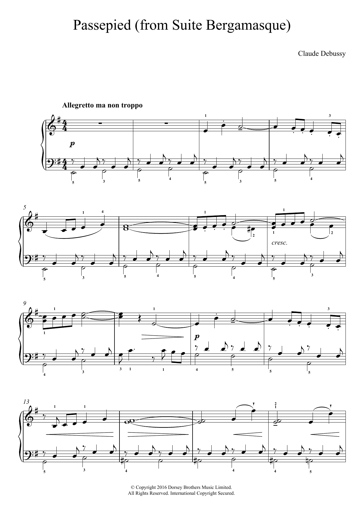 Claude Debussy - Passepied (From Suite Bergamasque)