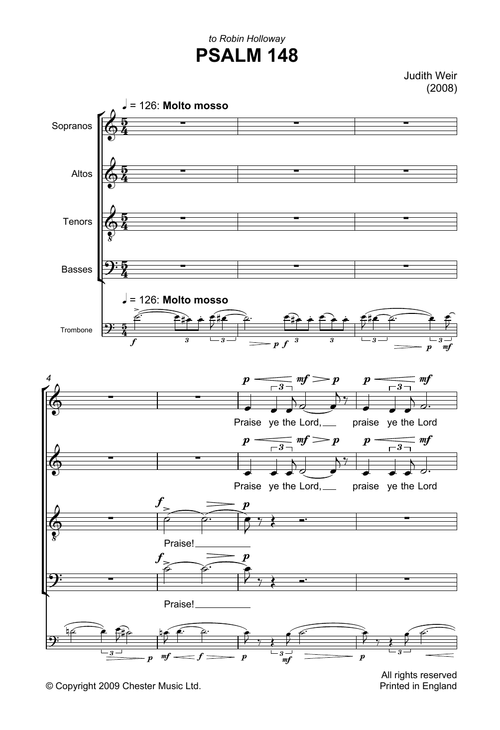 Judith Weir - Psalm 148