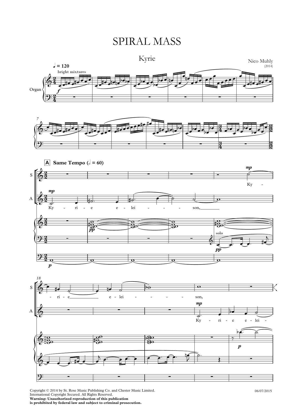 Nico Muhly - Spiral Mass