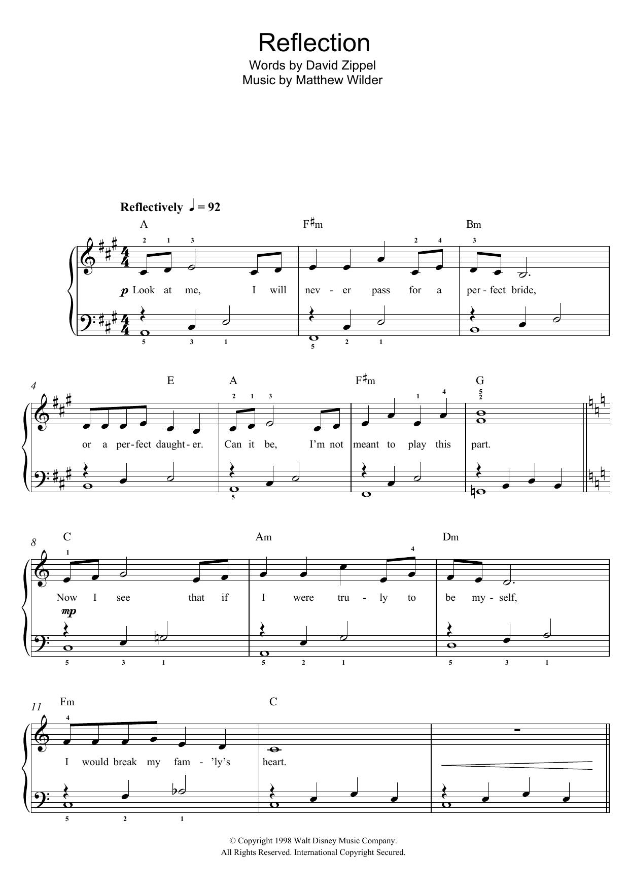 Christina Aguilera - Reflection (From 'Mulan')