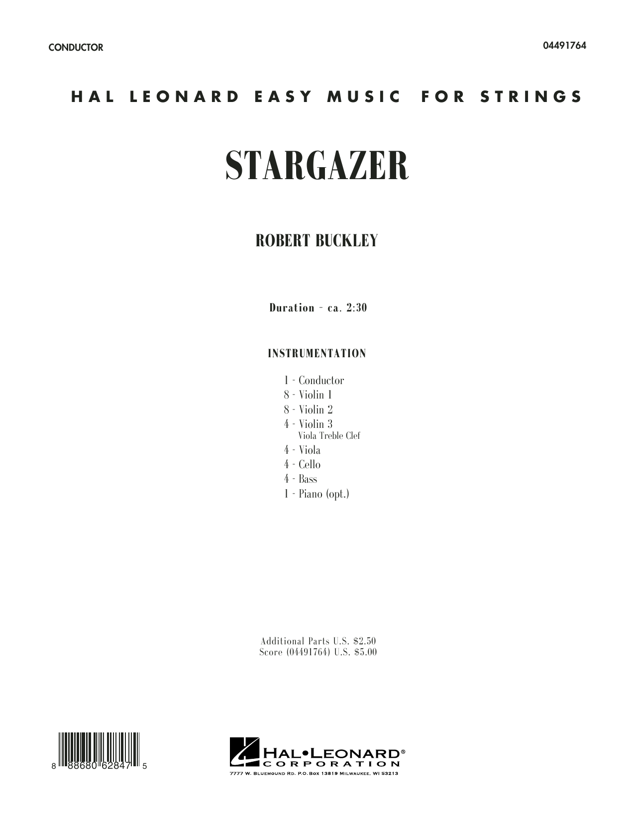 Stargazer (COMPLETE) sheet music for orchestra by Robert Buckley