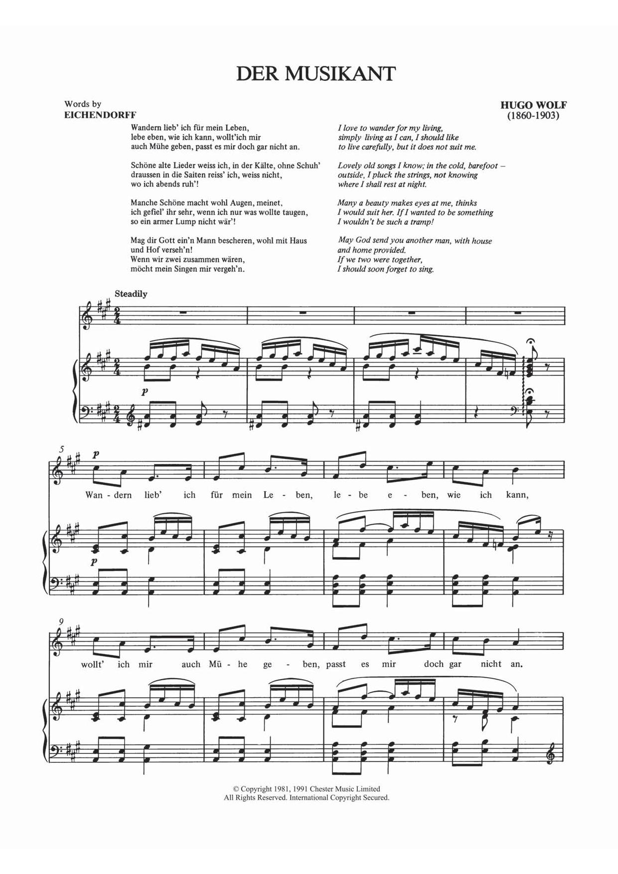 Hugo Wolf - Der Musikant