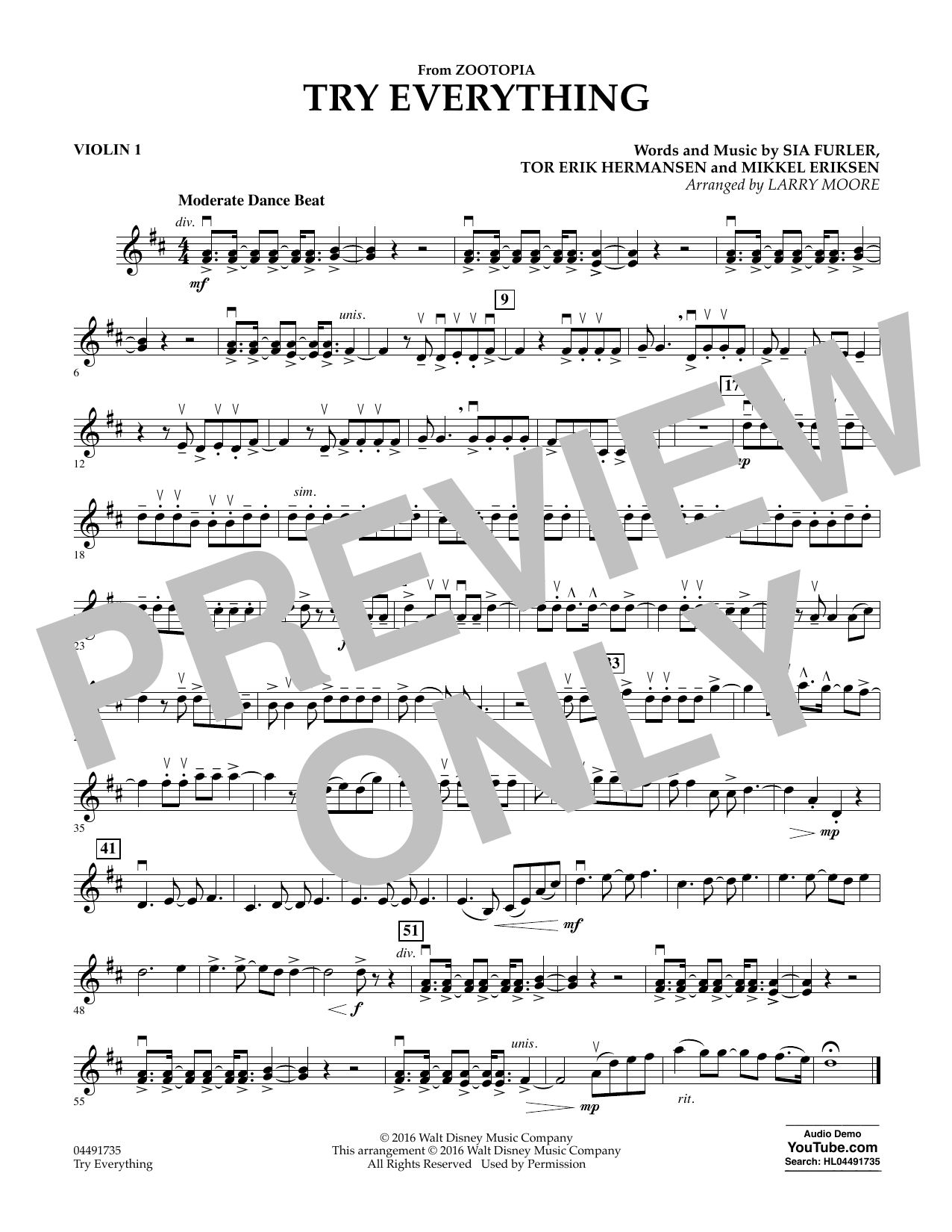 try everything piano sheet music