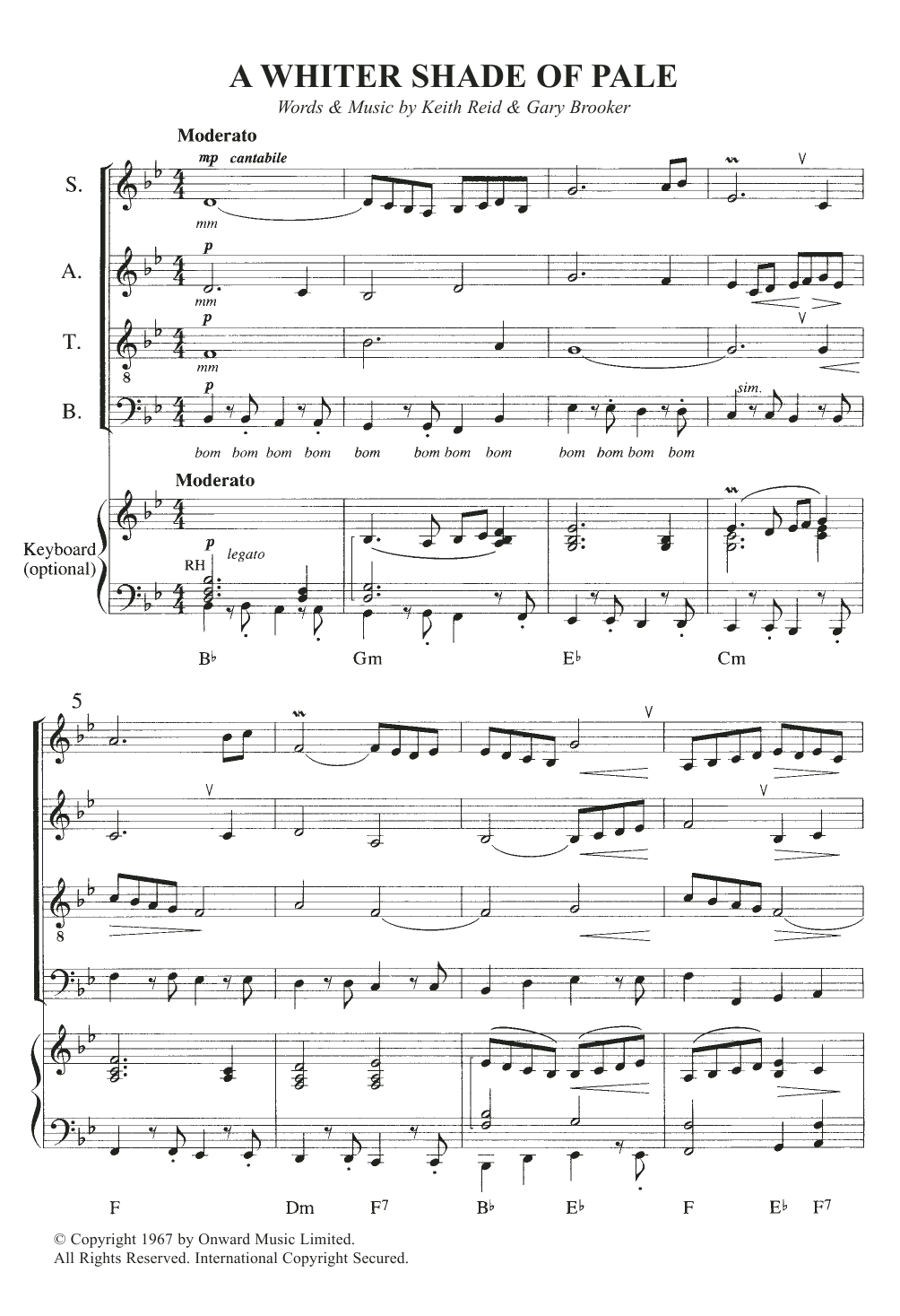 Sheet music digital files to print licensed annie lennox digital a whiter shade of pale hexwebz Choice Image