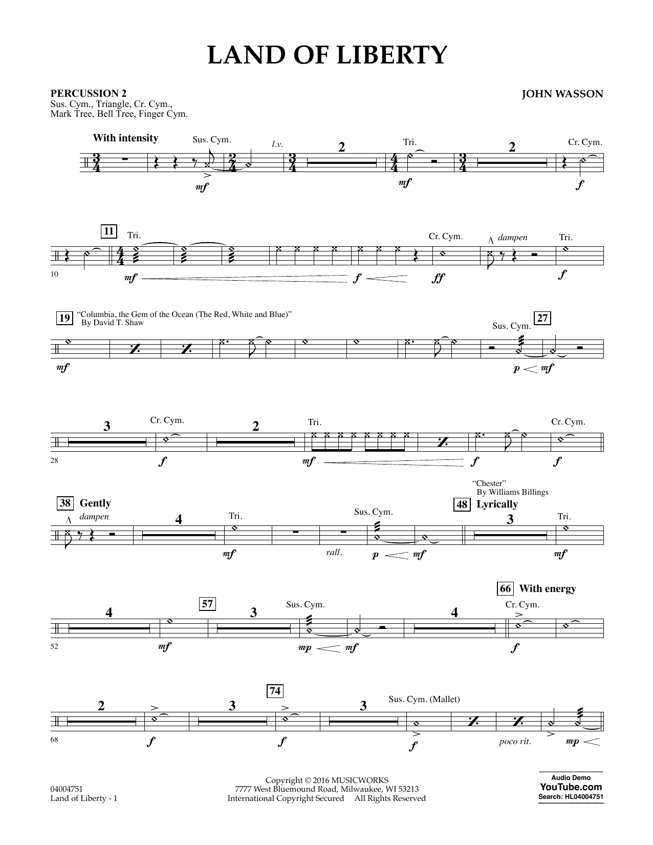 Land of Liberty - Percussion 2