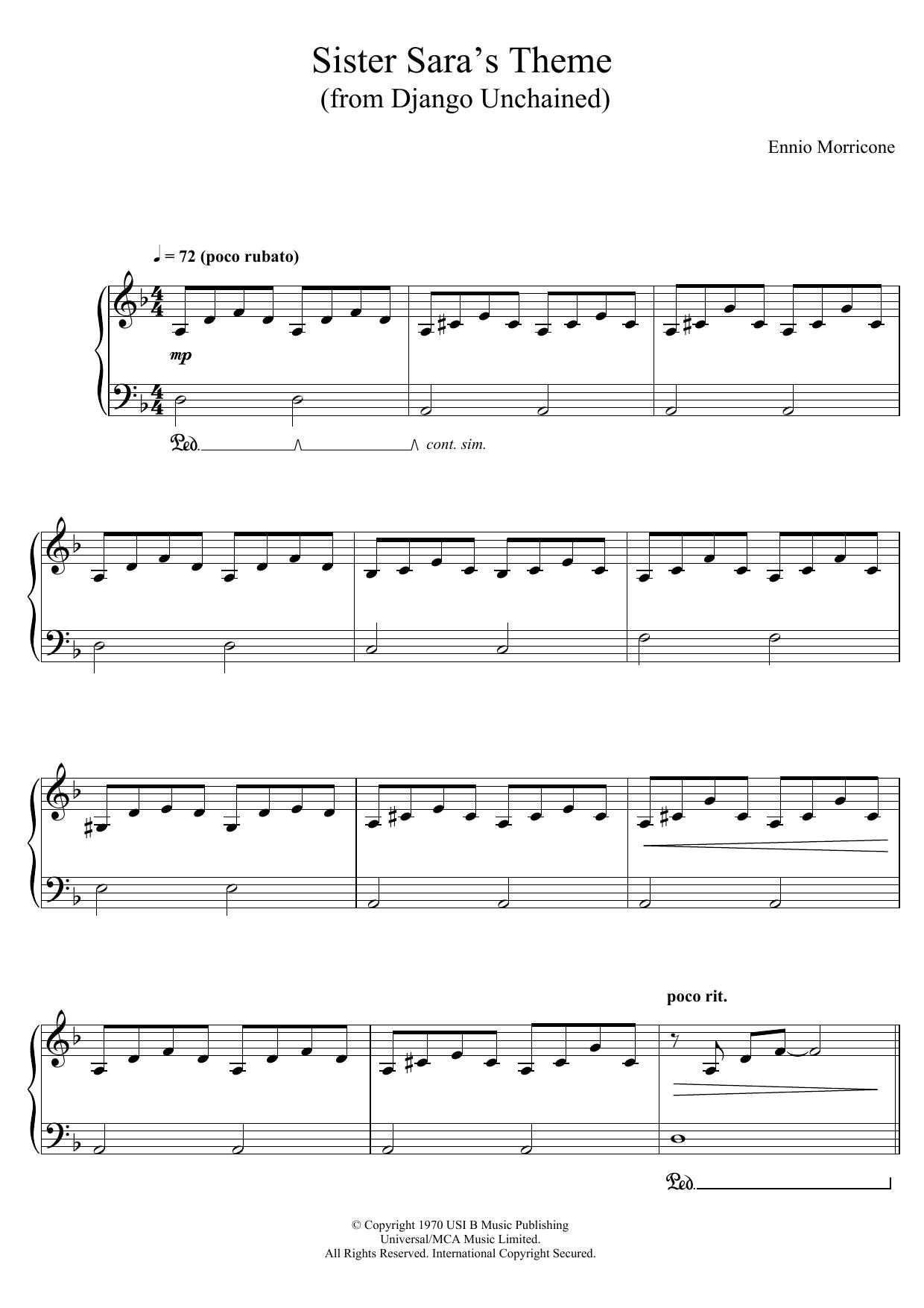 Ennio Morricone - Sister Sara's Theme (Django Unchained)