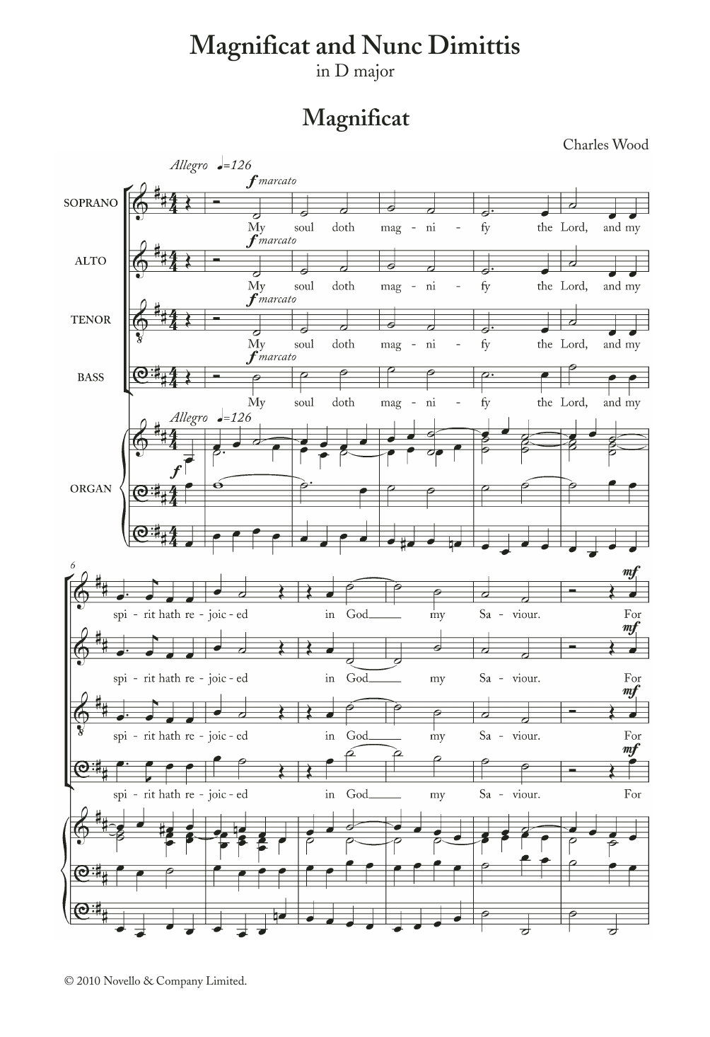 Charles Wood - Magnificat And Nunc Dimittis In D