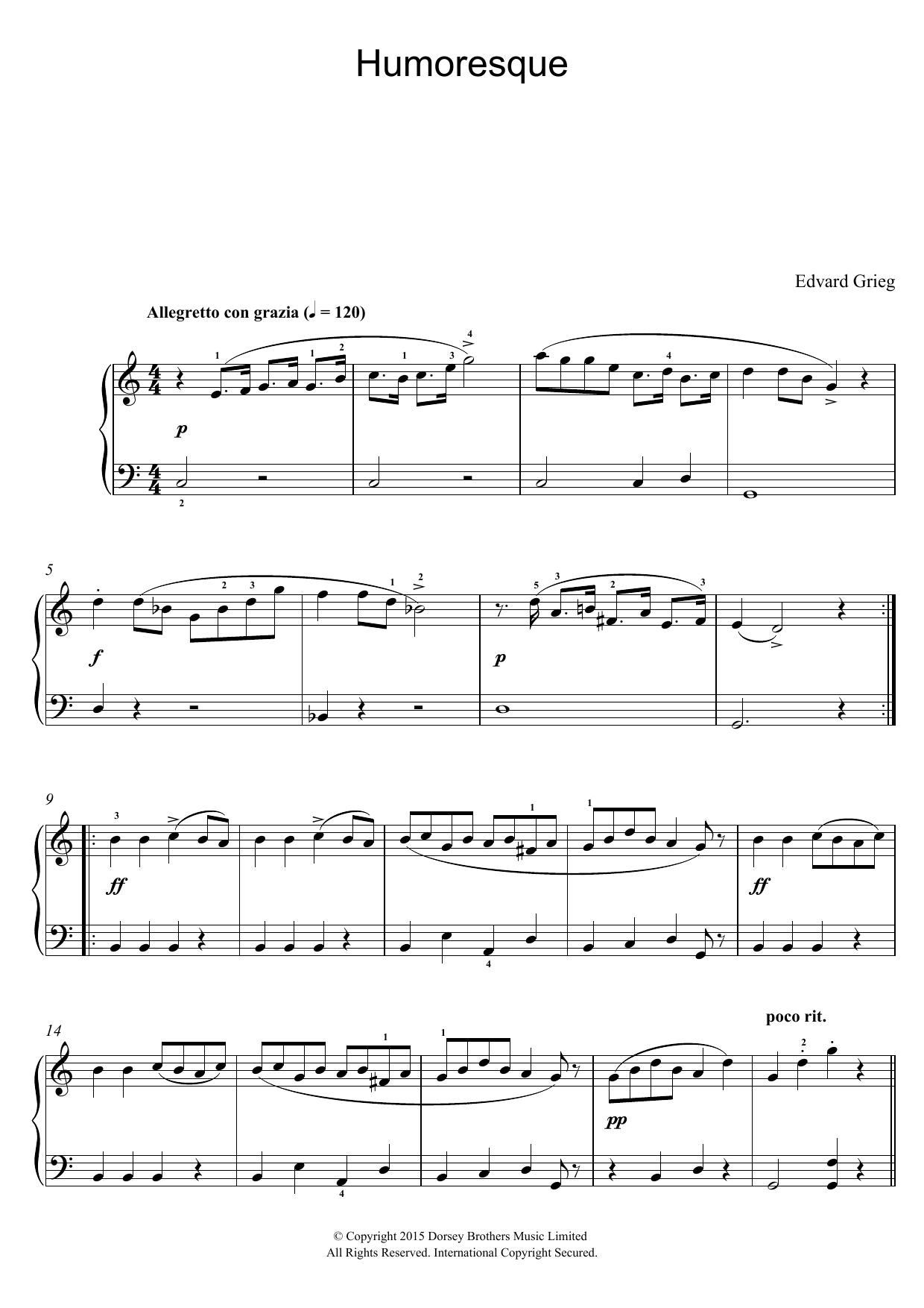 Edvard Grieg - Humoresque