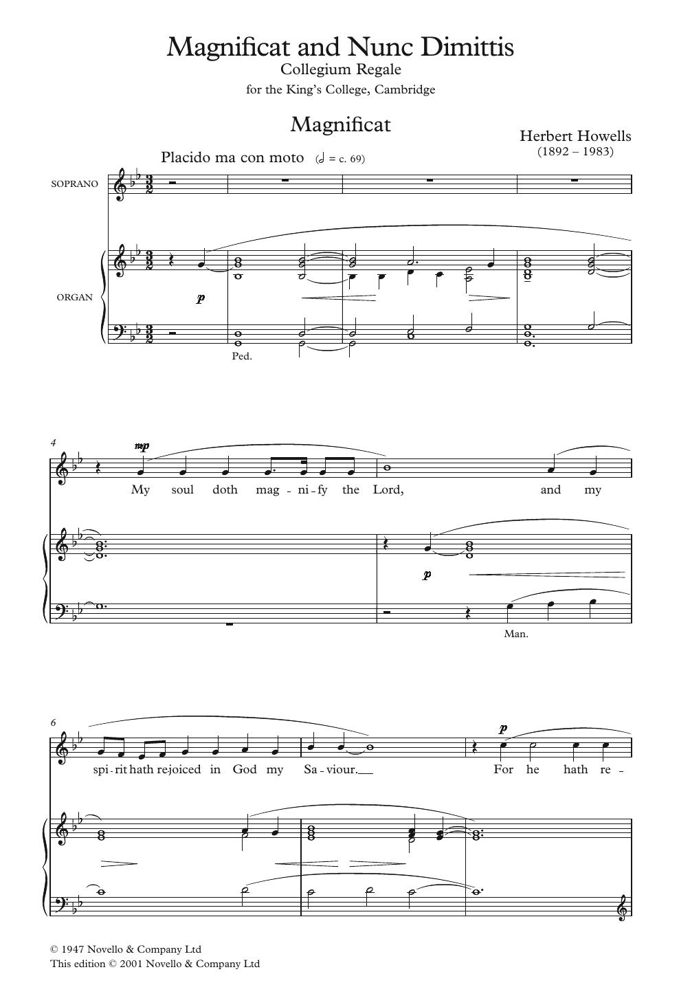Herbert Howells - Collegium Regale 1945 Magnificat And Nunc Dimittis