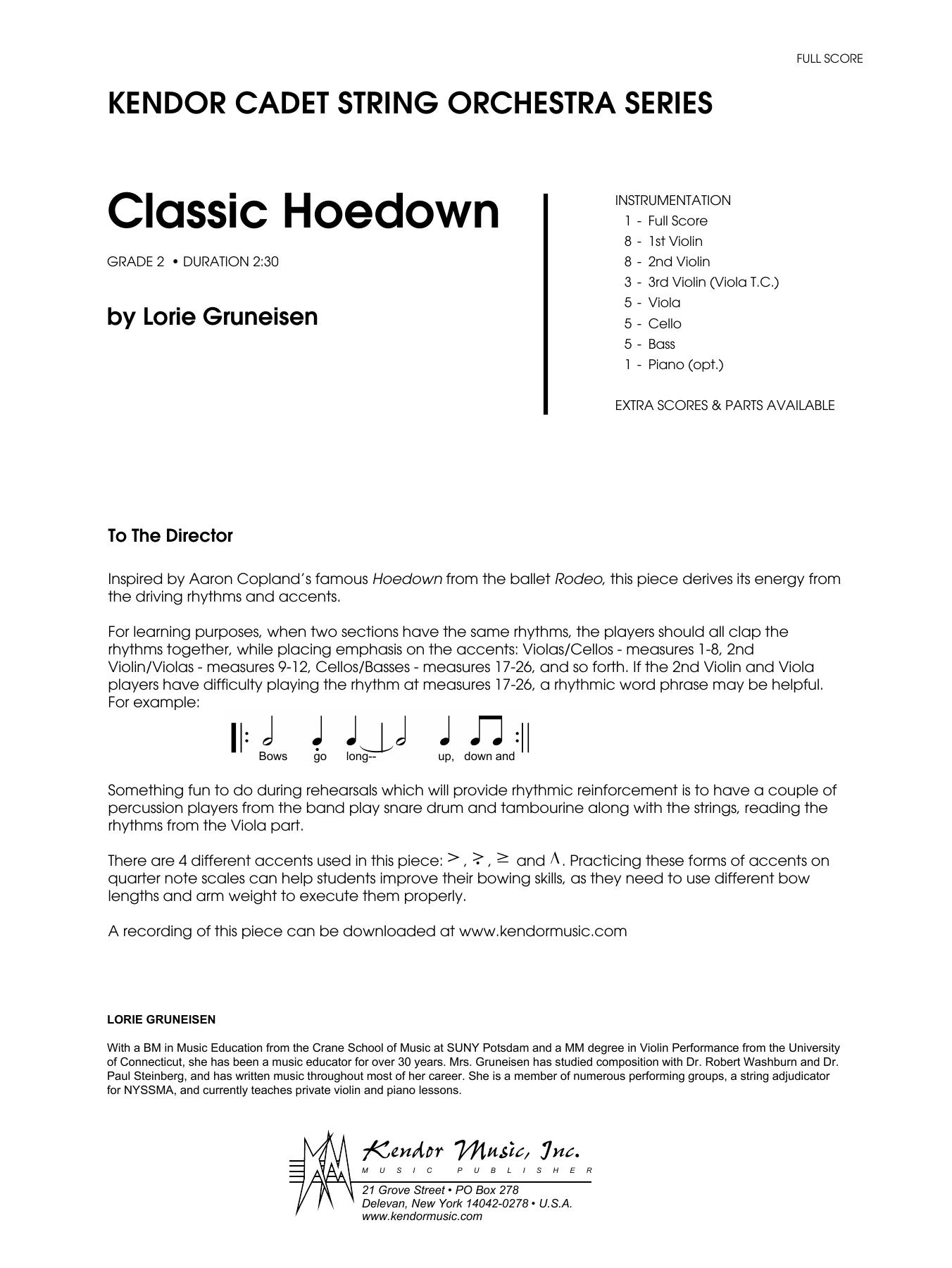 Classic Hoedown - Full Score