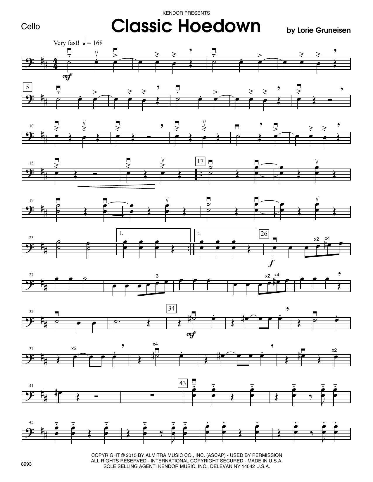 Classic Hoedown - Cello