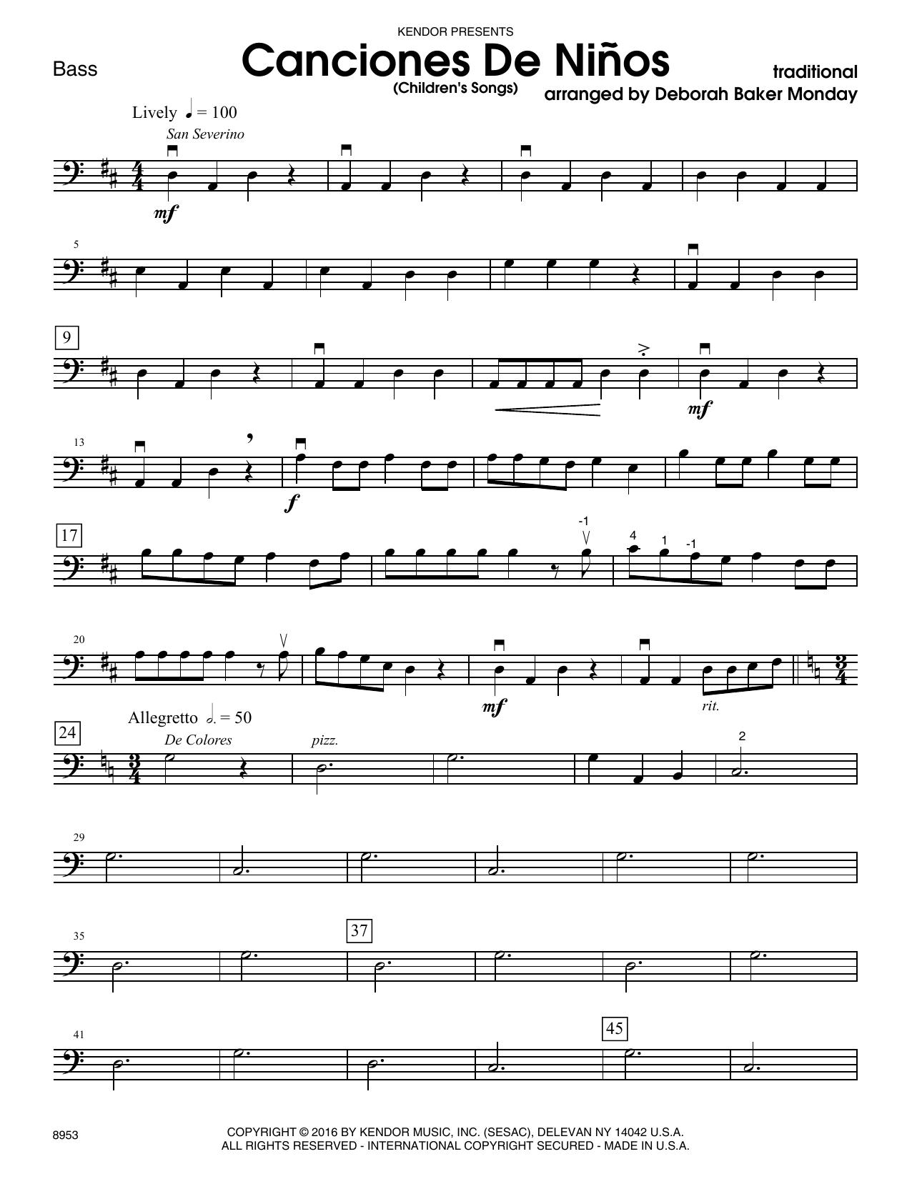 Canciones De Ninos - Bass