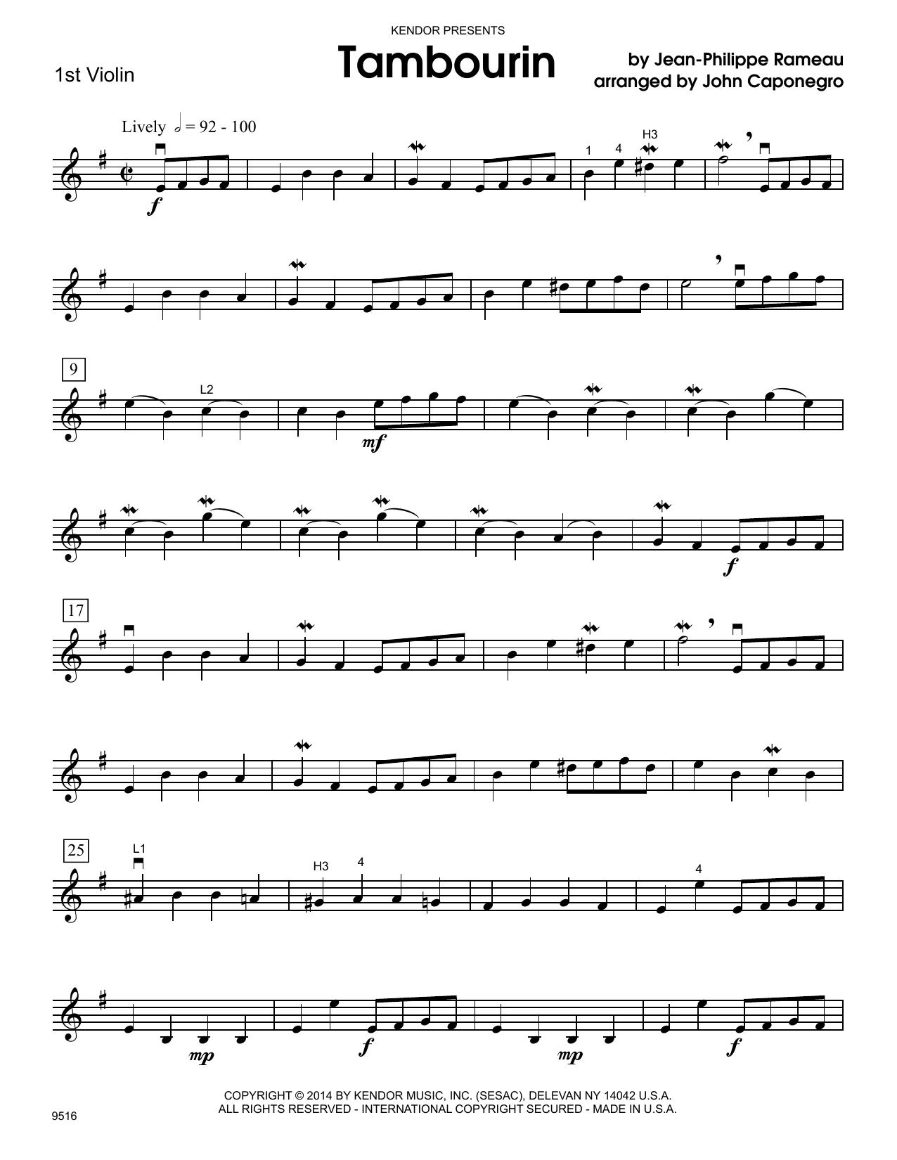 Tambourin - 1st Violin