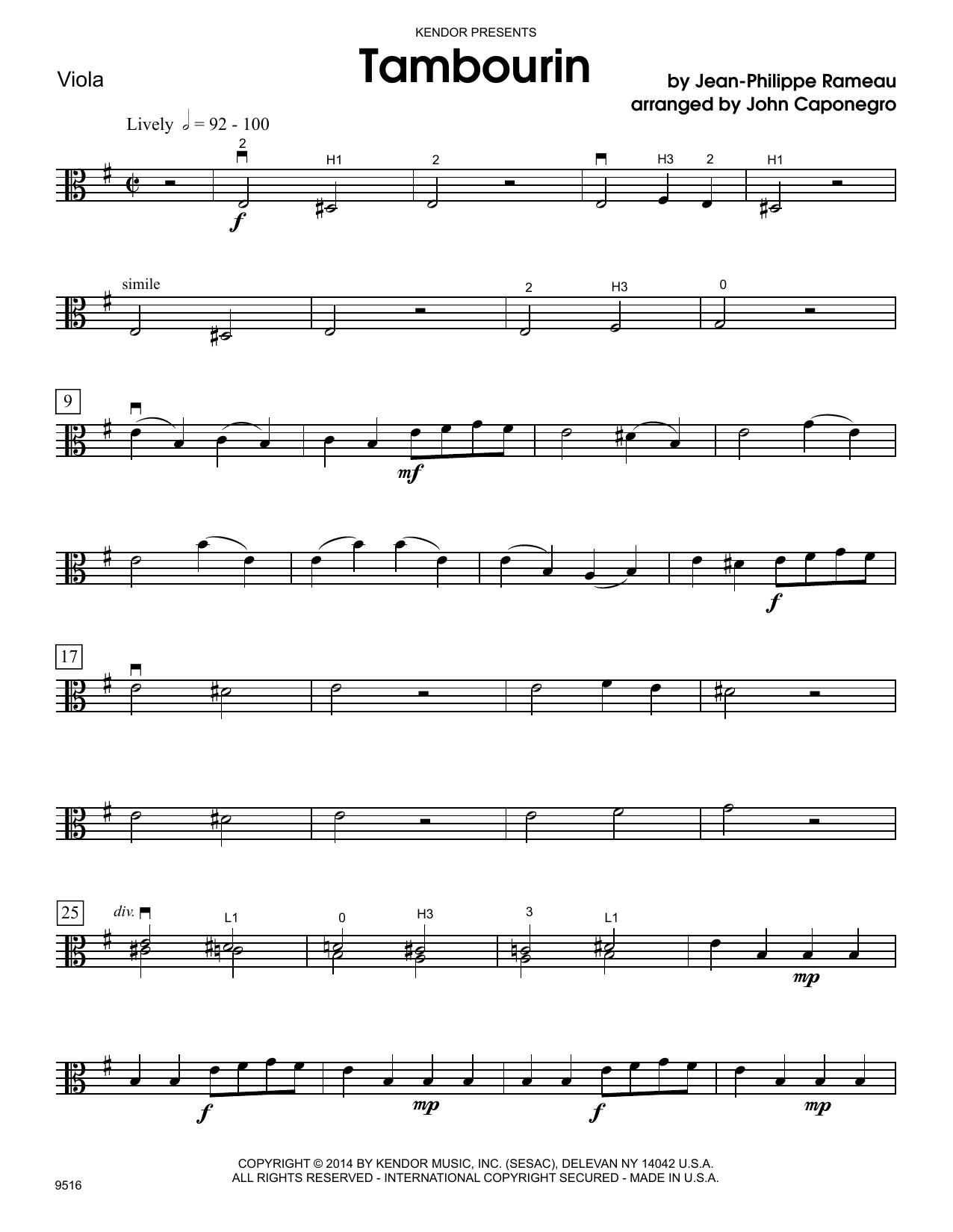 Tambourin - Viola