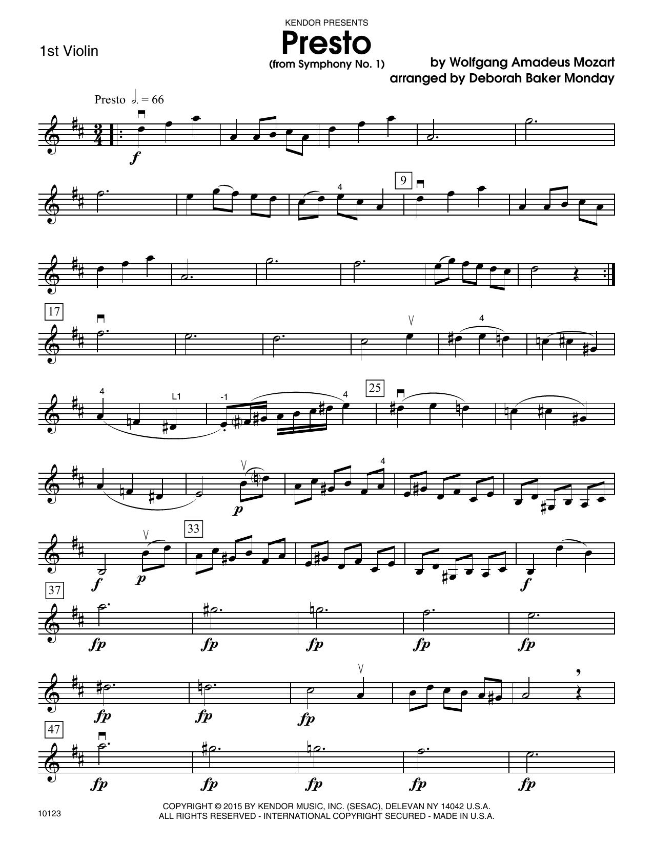 Mozart - Presto (from Symphony No. 1) - 1st Violin