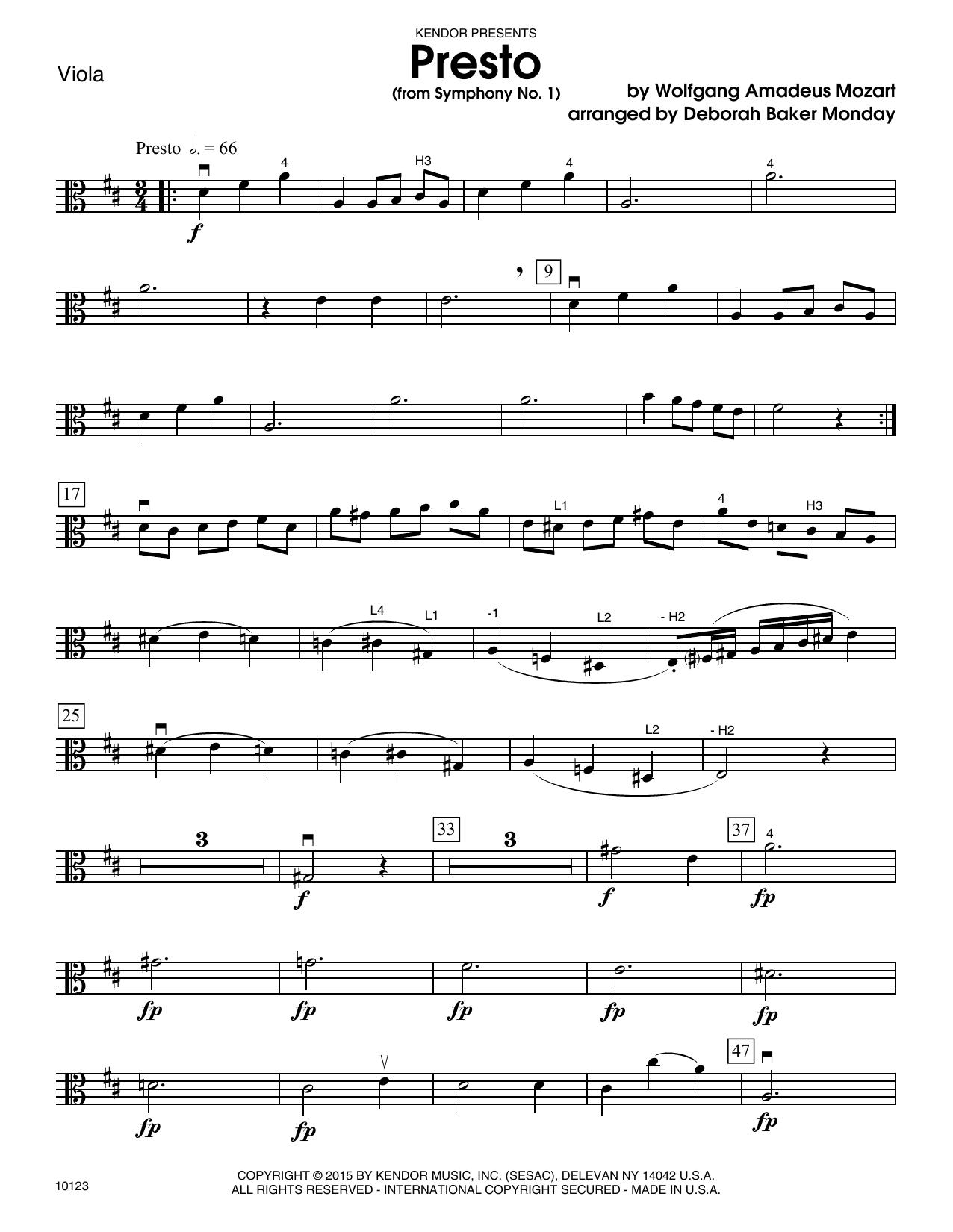 Mozart - Presto (from Symphony No. 1) - Viola