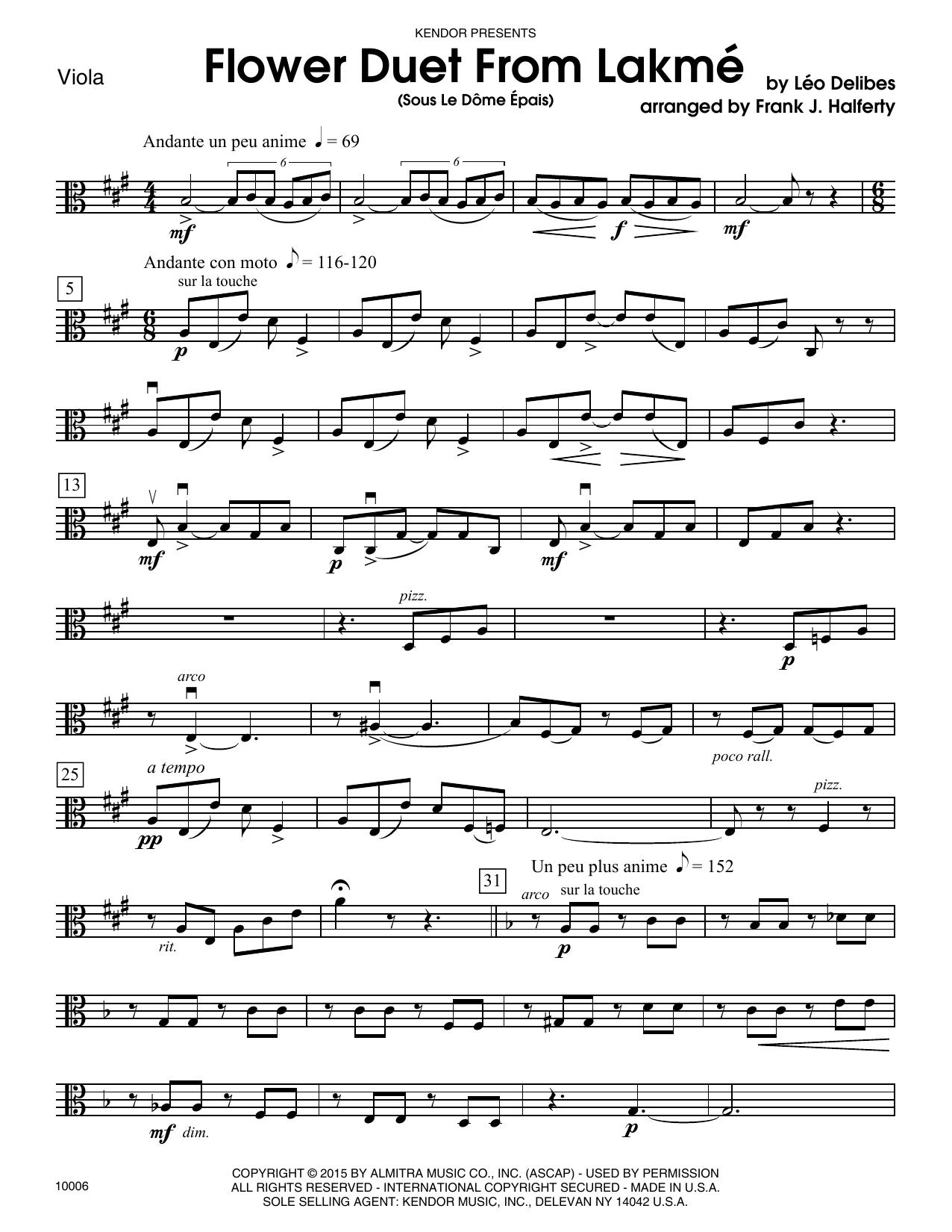 DELIBES - Flower Duet From Lakme (Sous Le Dome Epais) - Viola
