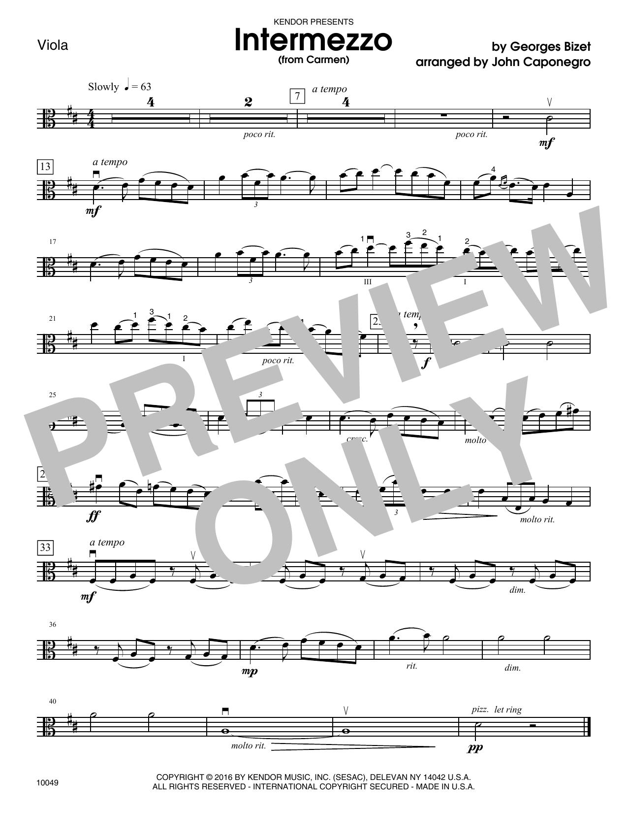 BIZET - Intermezzo (from Carmen) - Viola