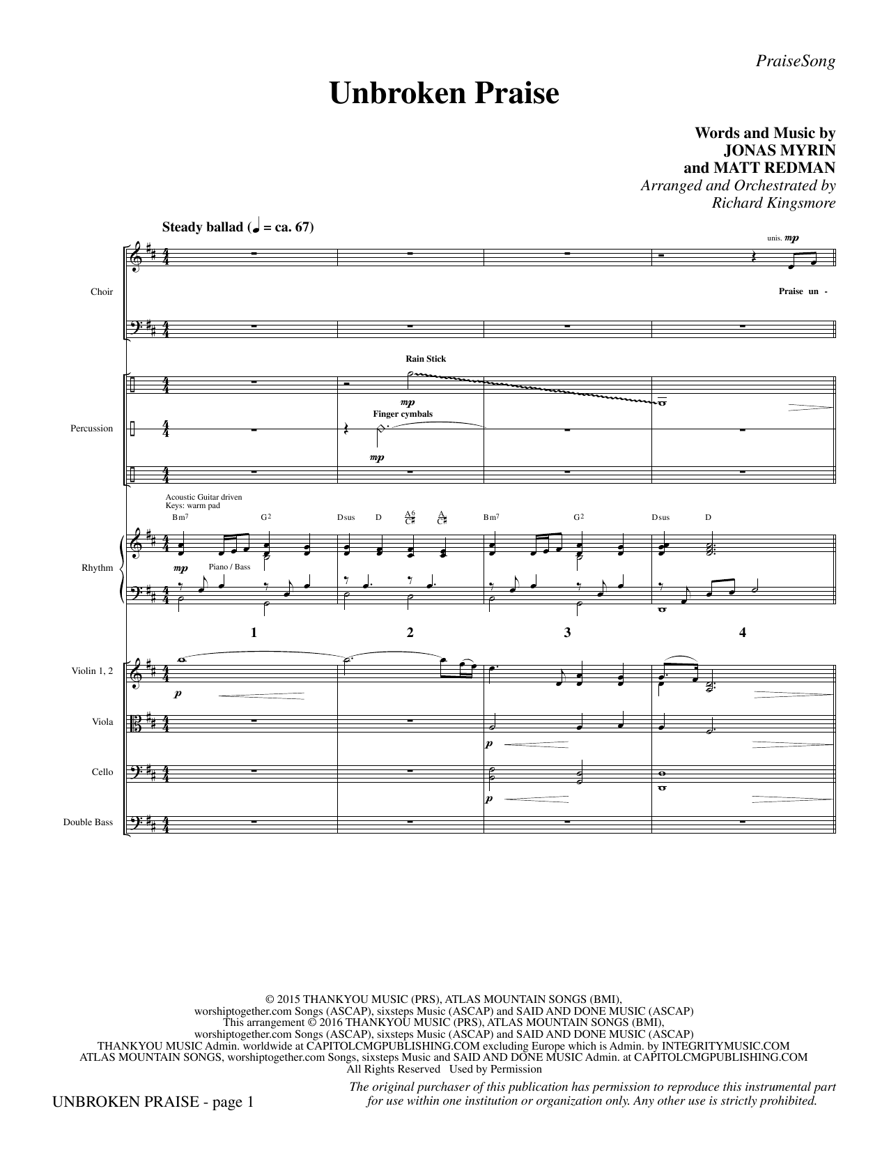 Unbroken Praise - Full Score