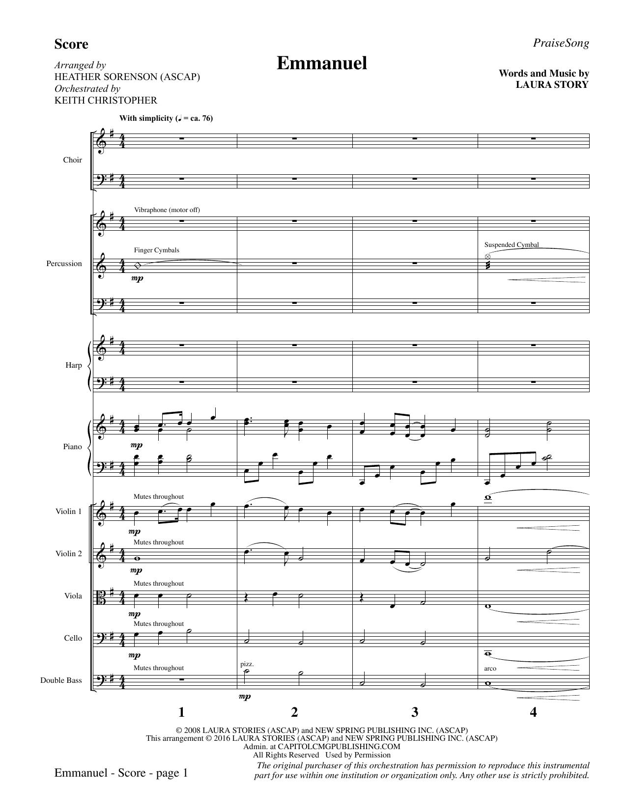 Emmanuel - Full Score