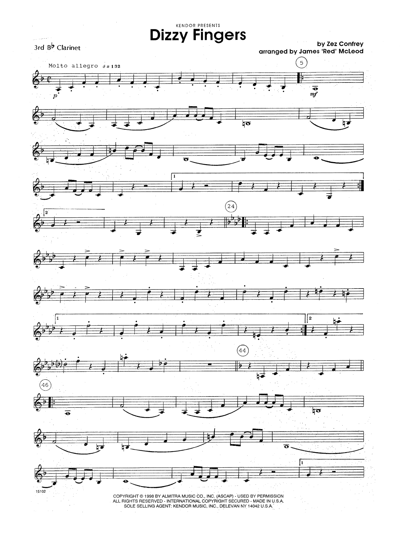 Sheet music digital files to print licensed woodwind ensemble dizzy fingers 3rd bb clarinet hexwebz Gallery