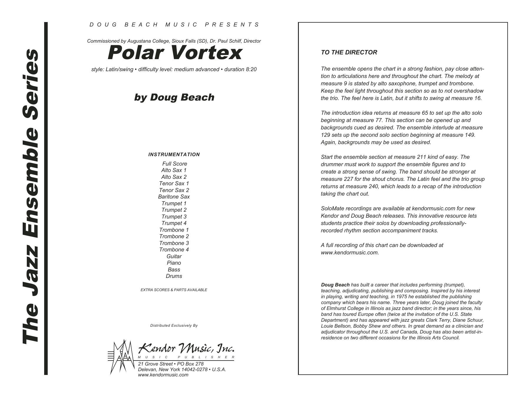Polar Vortex (COMPLETE) sheet music for jazz band by Doug Beach