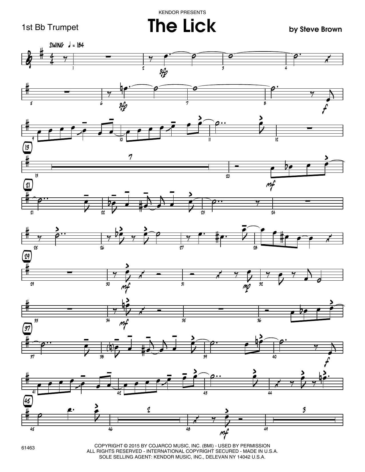The Lick - 1st Bb Trumpet