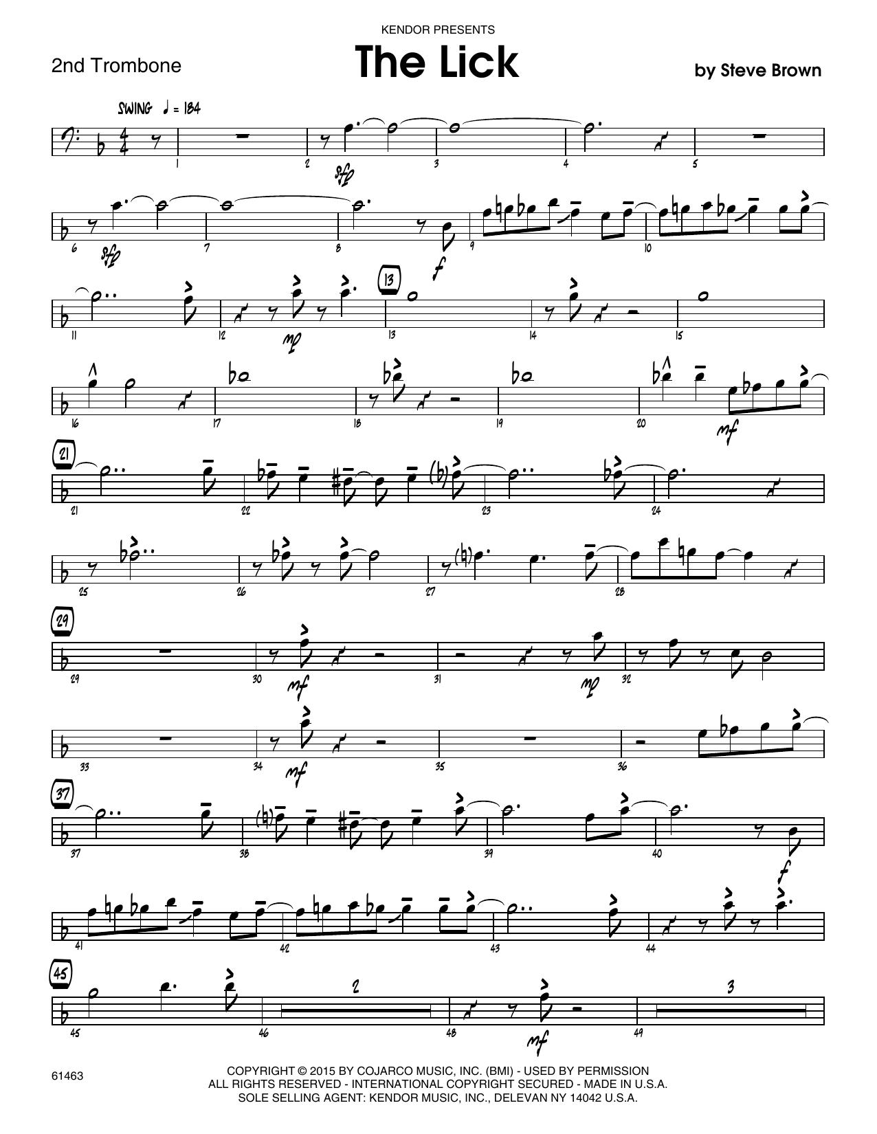 The Lick - 1st Trombone