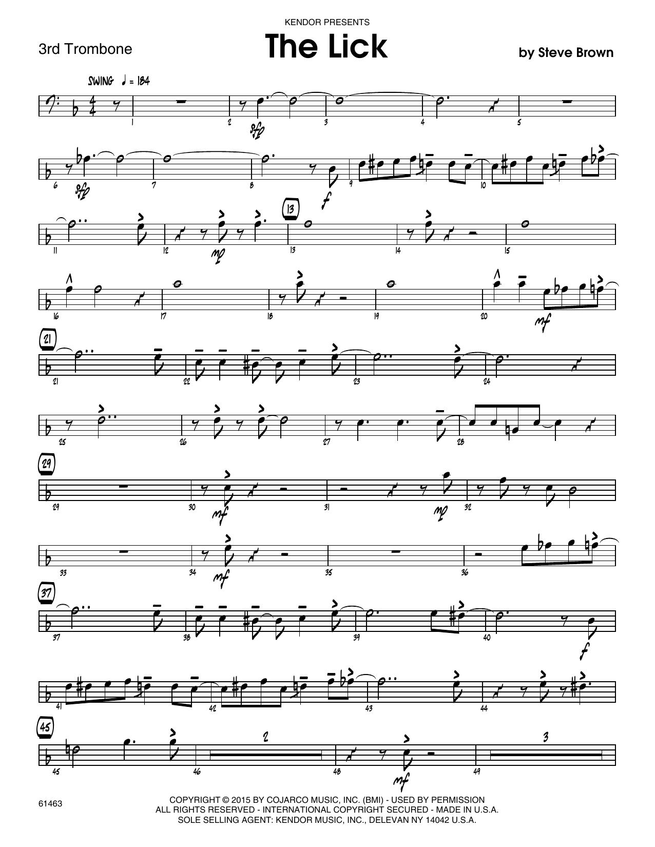 The Lick - 2nd Trombone