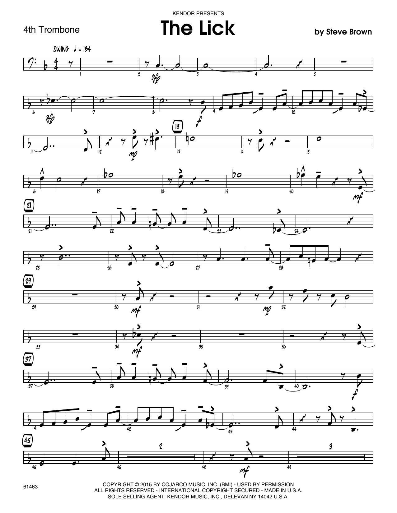 The Lick - 3rd Trombone