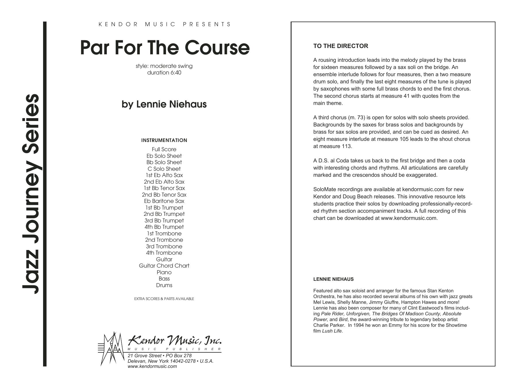 Par For The Course - Full Score