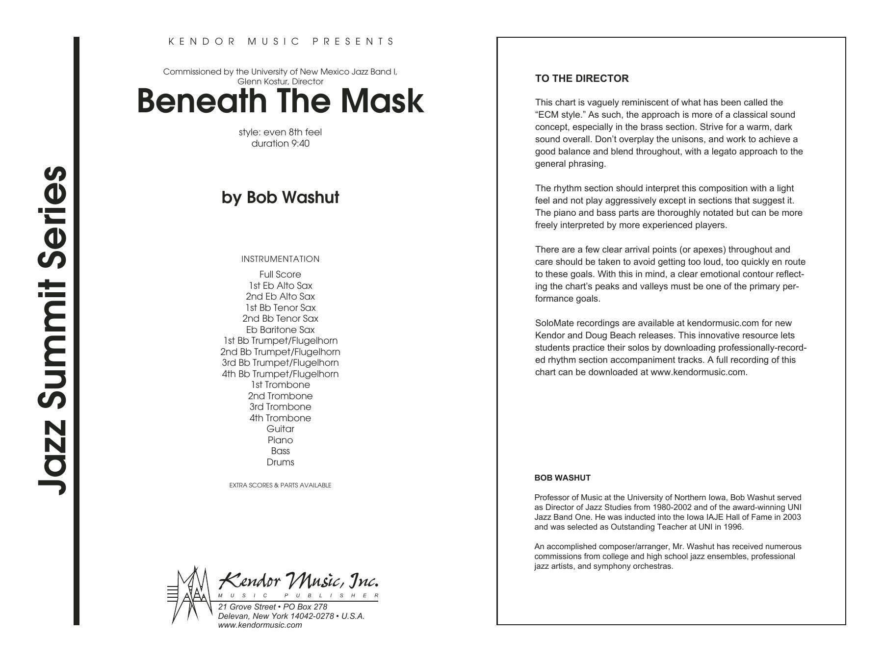 Beneath The Mask - Full Score