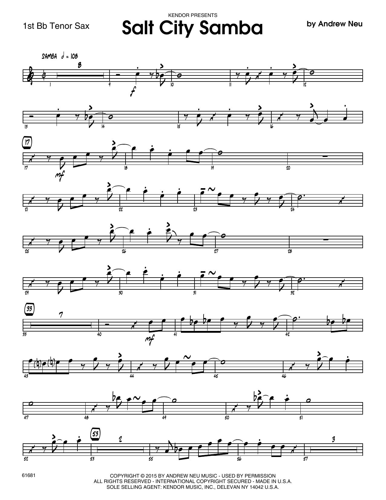 Salt City Samba - 1st Tenor Saxophone