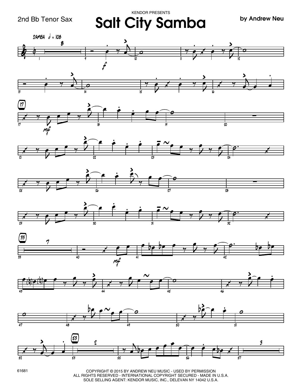 Salt City Samba - 2nd Bb Tenor Saxophone