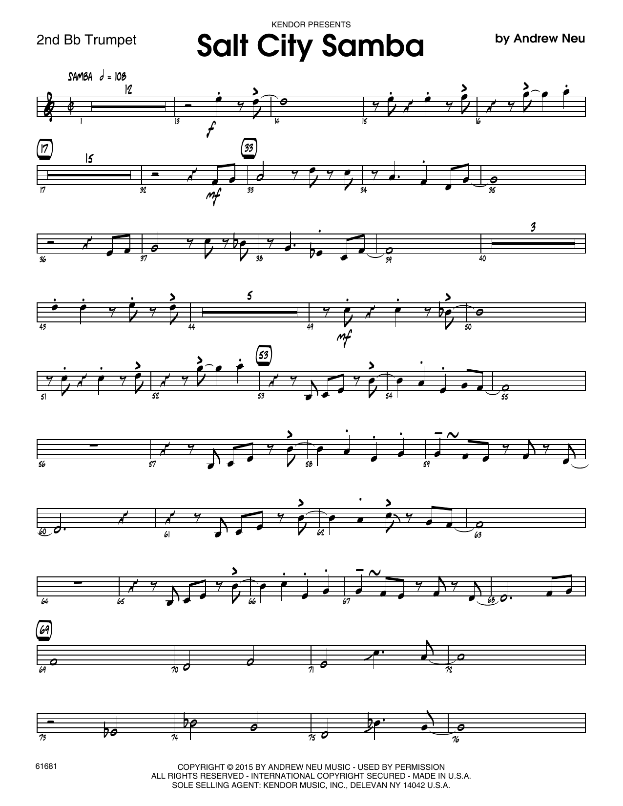 Salt City Samba - 2nd Bb Trumpet