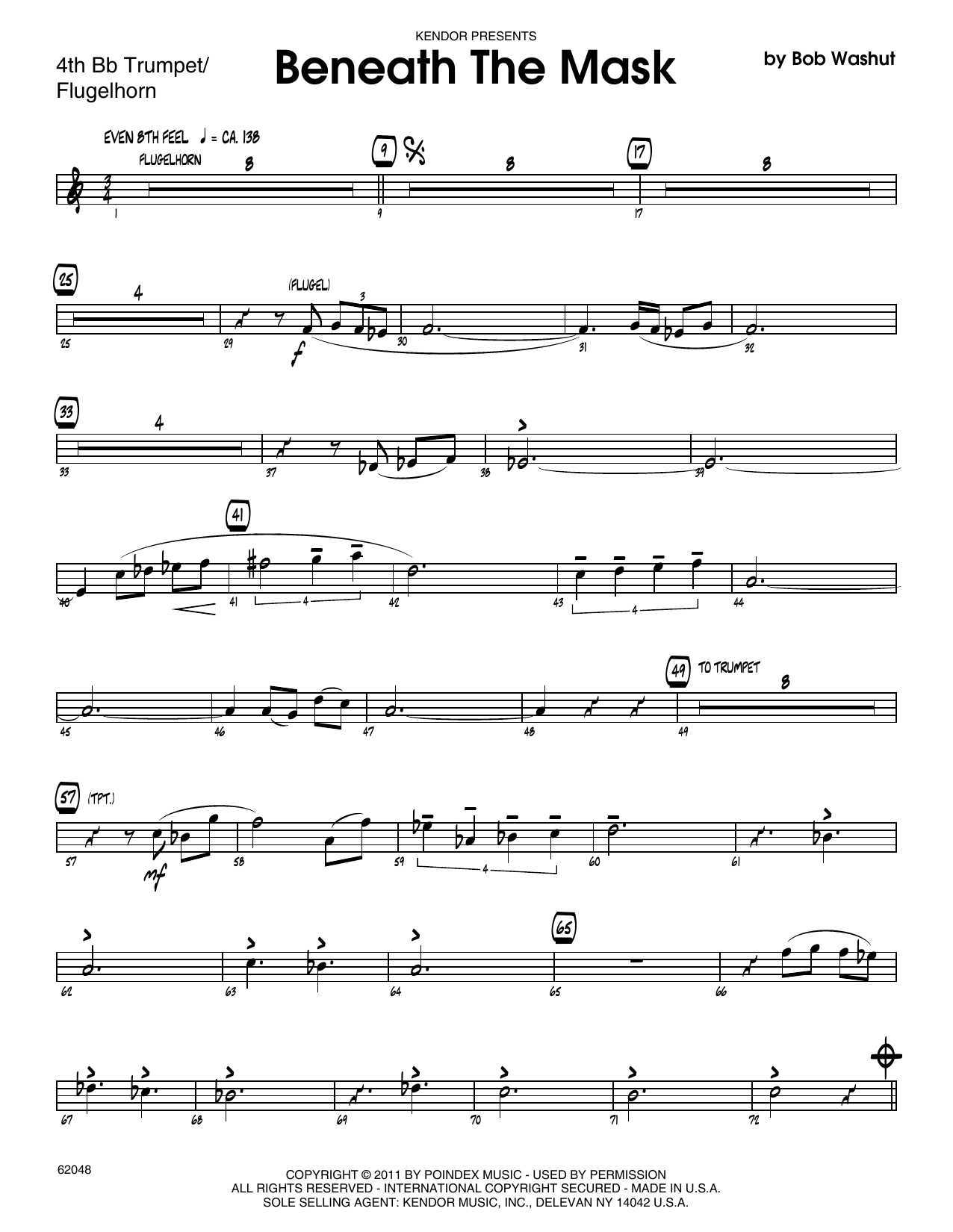 Beneath The Mask - 4th Bb Trumpet