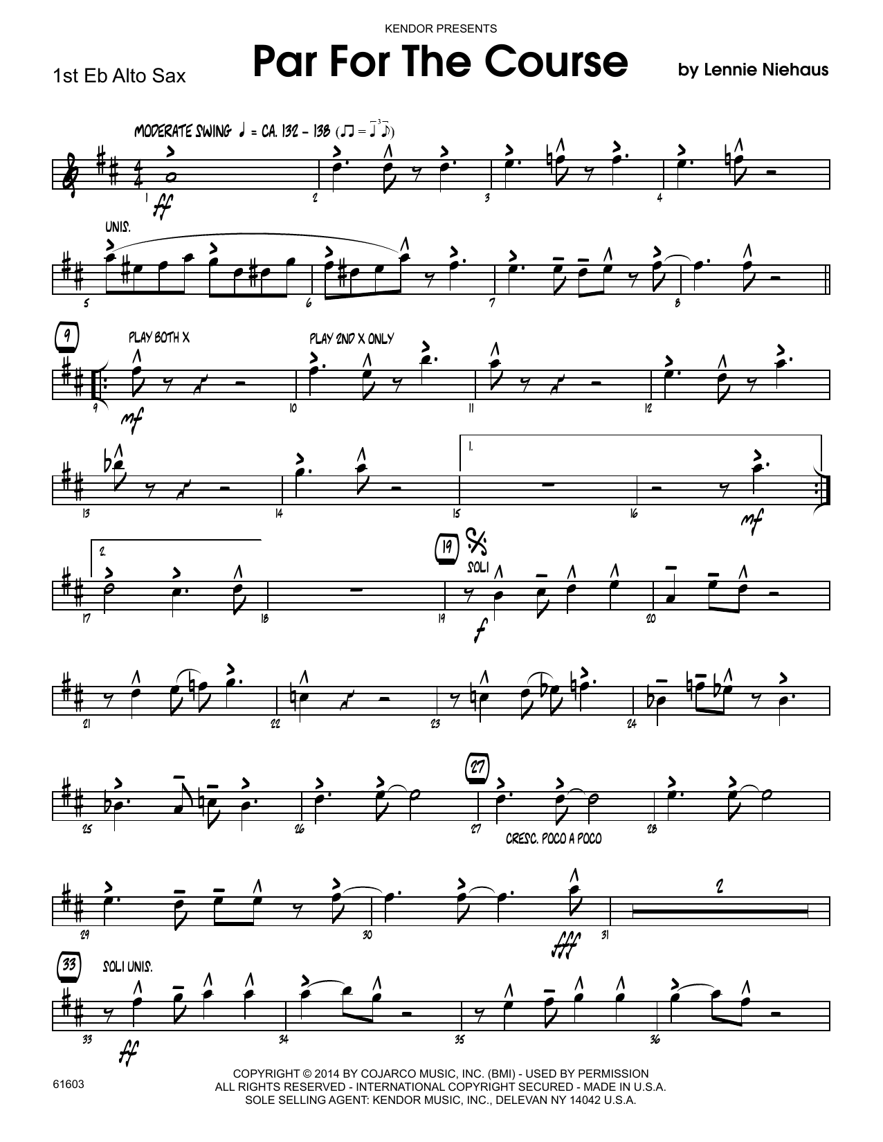 Par For The Course - 1st Eb Alto Saxophone